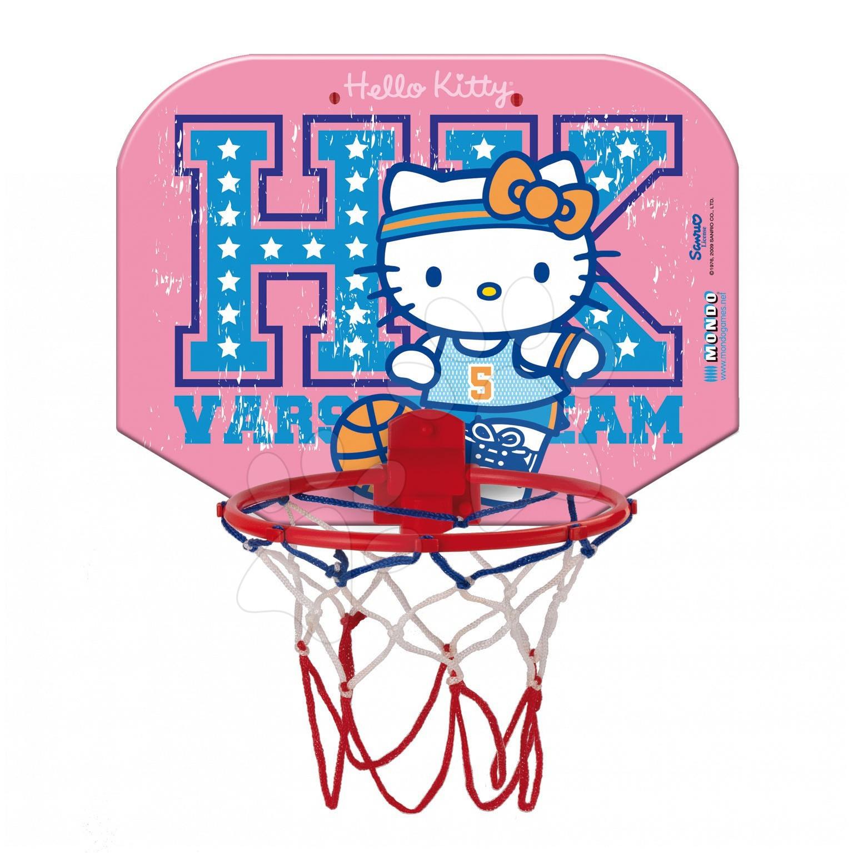 Basketbalový koš Hello Kitty Mondo na stěnu s míčem