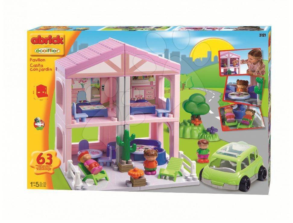 Cuburi de construit Abrick - Joc de construit Căsuţă dulce Abrick Écoiffier 56 de piese de la 18 luni
