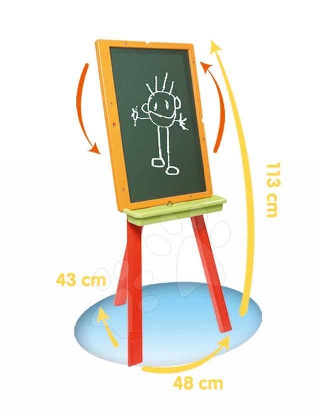 Školská tabuľa na písanie Mon Chevalet Smoby 28113 cm vysoká