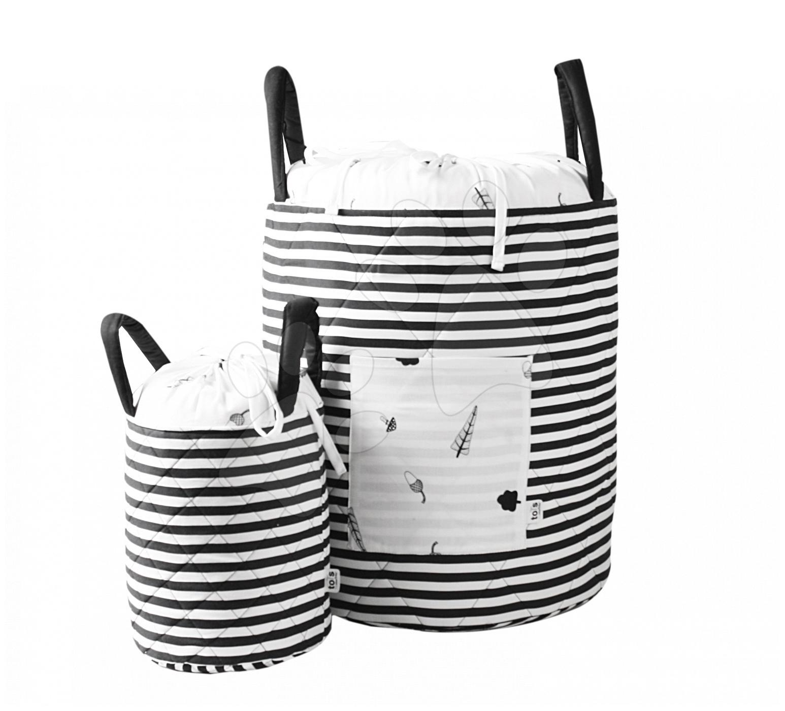 Košík Stromy Bamboo toTs-smarTrike Black&White textilní, bambusové hedvábí a satén 45*40 cm