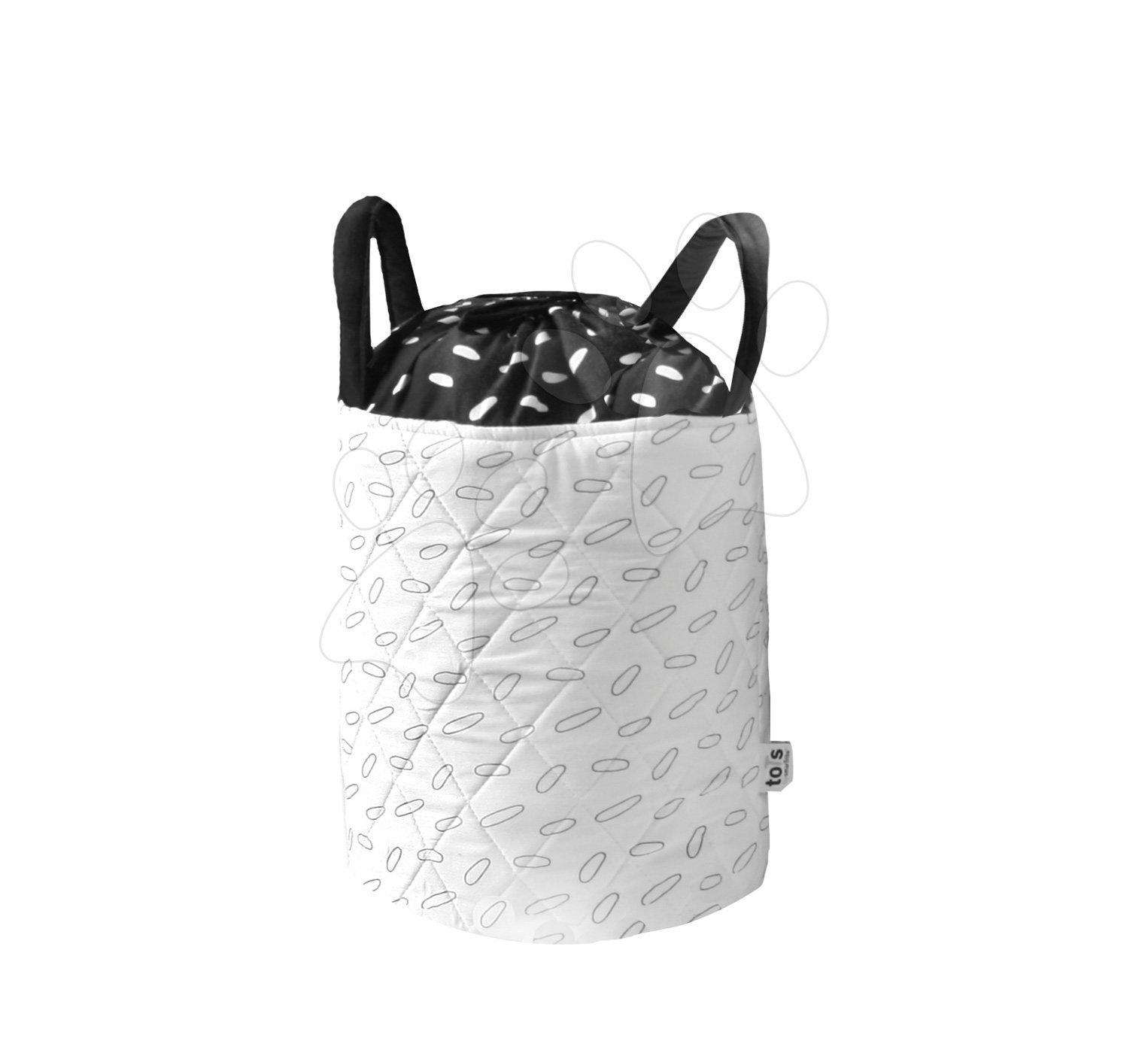 Textilný košík Listy Bamboo toTs-smarTrike Black&White bambusový hodváb a satén 25*20 cm od 0 mesiacov