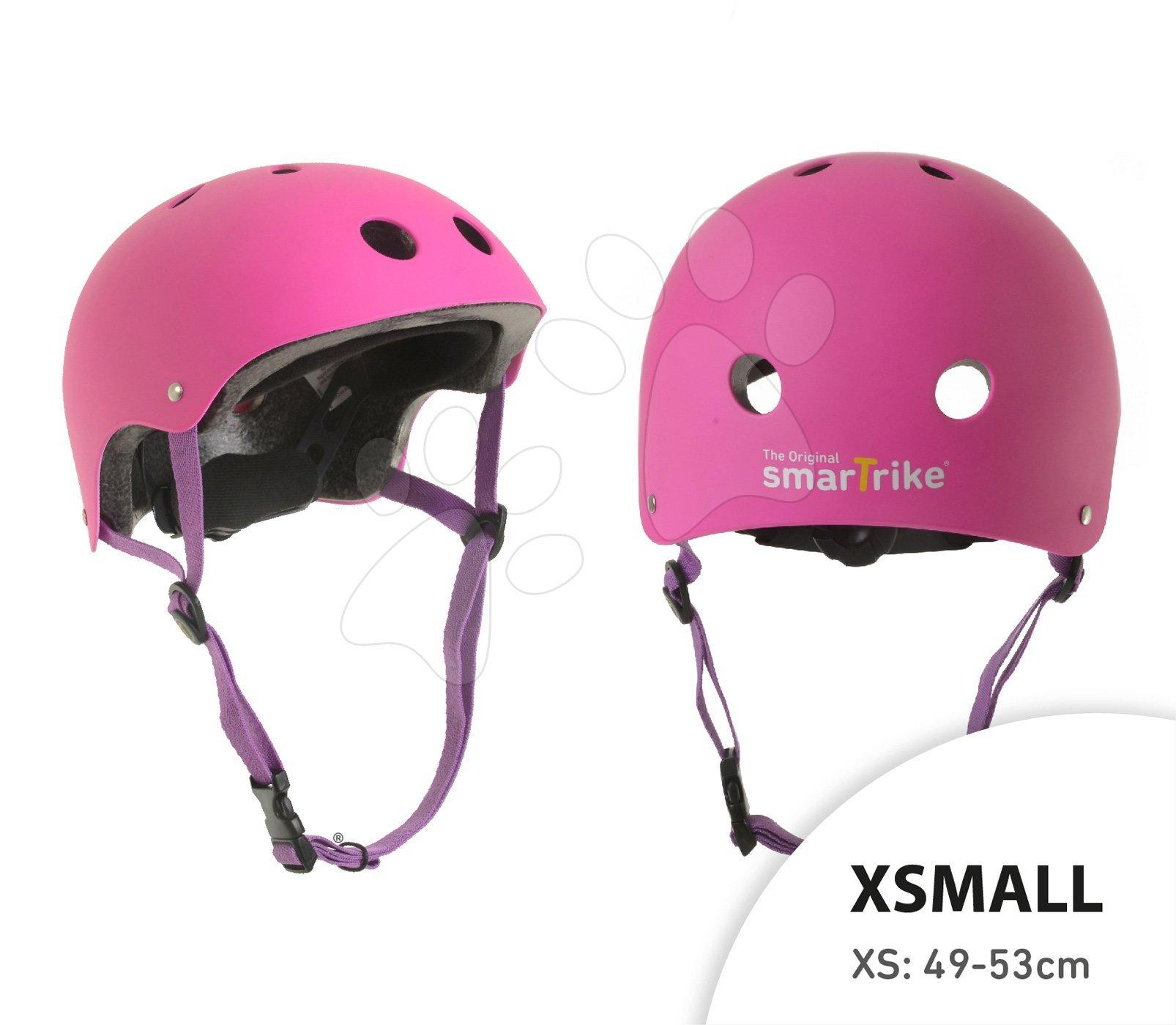 Prilba Pink smarTrike XS nastaviteľná veľkosť 49-53 cm s 11 vetračkami ružová