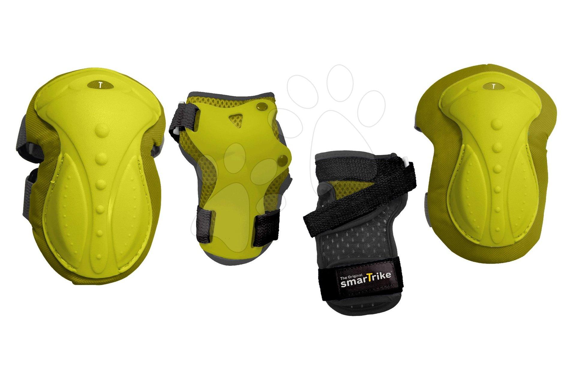 Chrániče Safety Gear set S smarTrike na kolena a zápěstí z ergonomického plastu zelené od 6 let