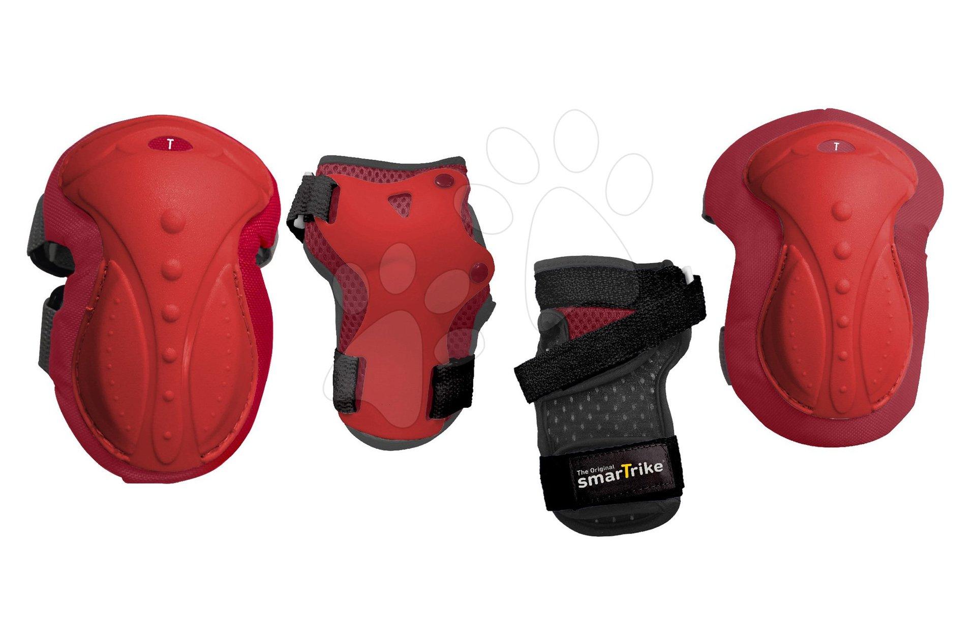 Chrániče Safety Gear set M smarTrike na kolená a zápästia z ergonomického plastu červené od 9 rokov