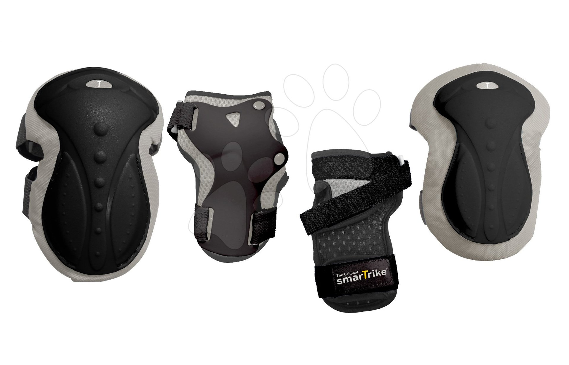 Chrániče Safety Gear set M smarTrike na kolená a zápästia z ergonomického plastu čierne od 9 rokov