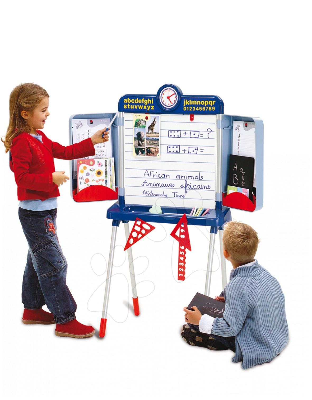 Tablă școlară pentru scris Smoby magnetică 125 cm înălțime