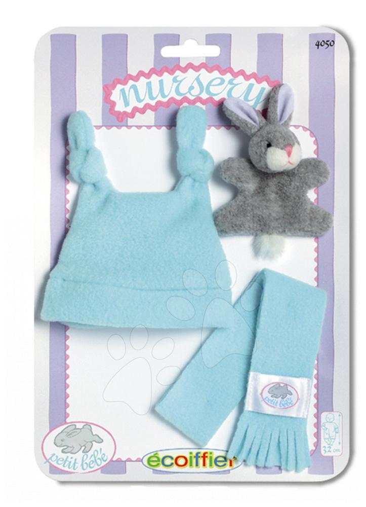 Oblečení pro panenky - Šatičky pro panenku Clip Strip Nursery Écoiffier 32 cm modré/růžové