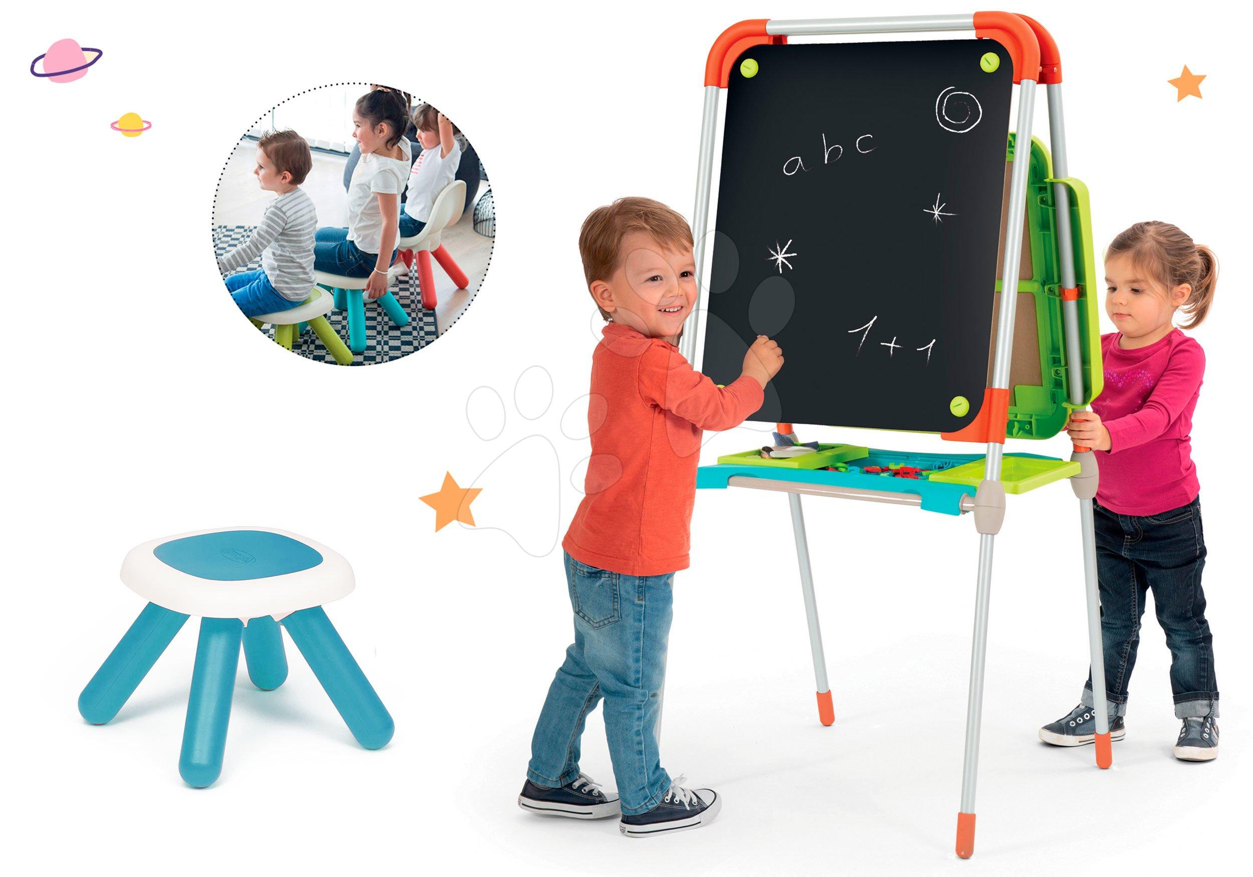 Smoby set školní magnetická tabule a taburetka KidStool 2v1 410202-1
