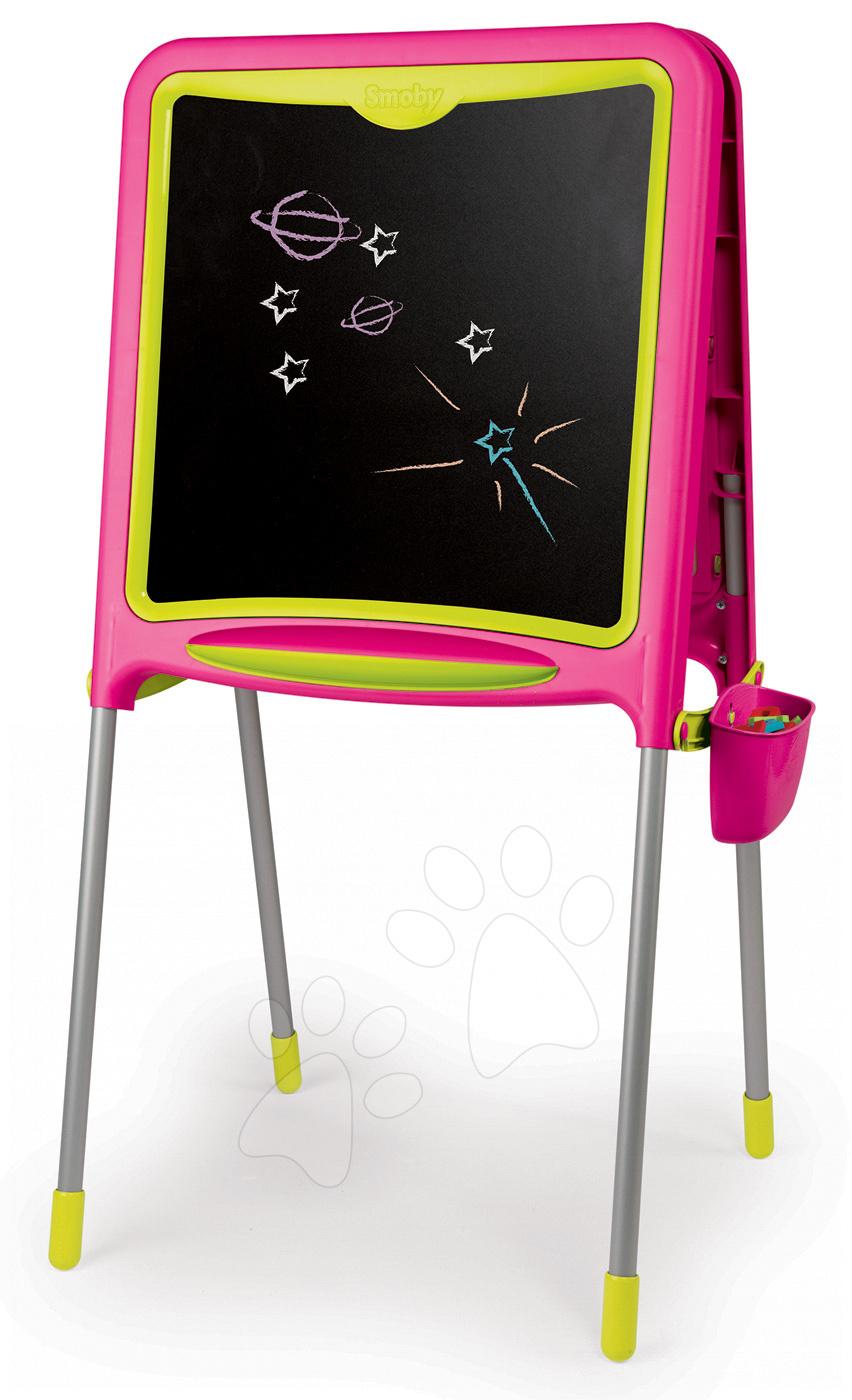 Magnetická tabuľa Activity Smoby obojstranná s 80 doplnkami ružová 14f814d3b4e