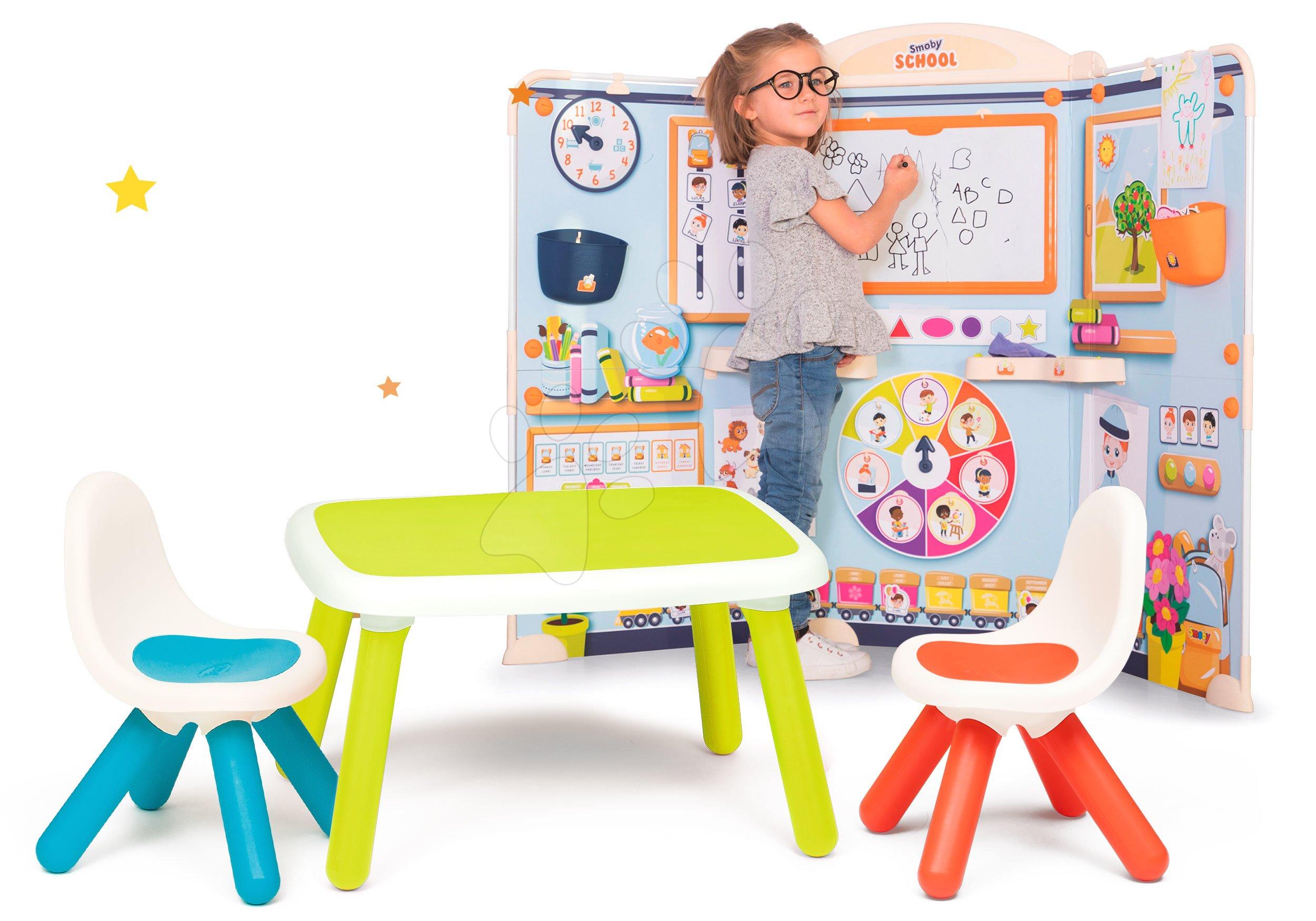 Set škola pre škôlkárov School Smoby Hra na učiteľa a žiaka so zeleným stolom a 2 stoličky
