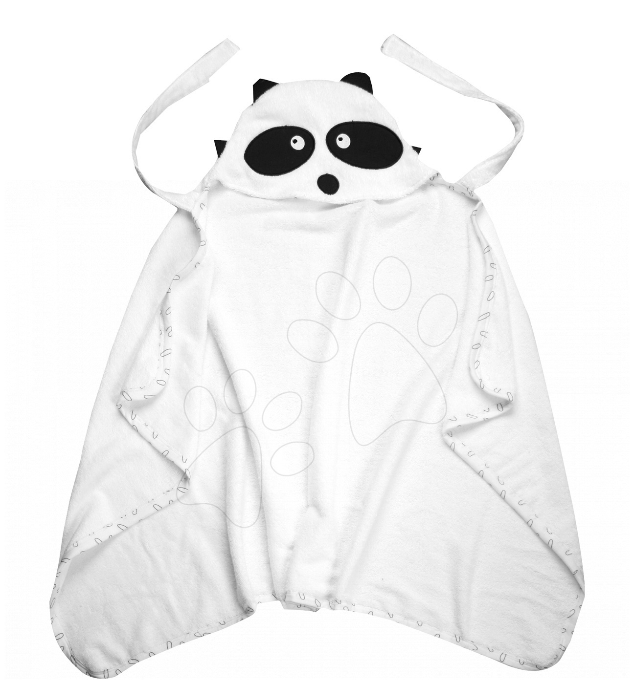 Osuška pro nejmenší Mýval Bamboo toTs-smarTrike Black&White s kapucí jemný bambus a bavlna od 0 měsíců