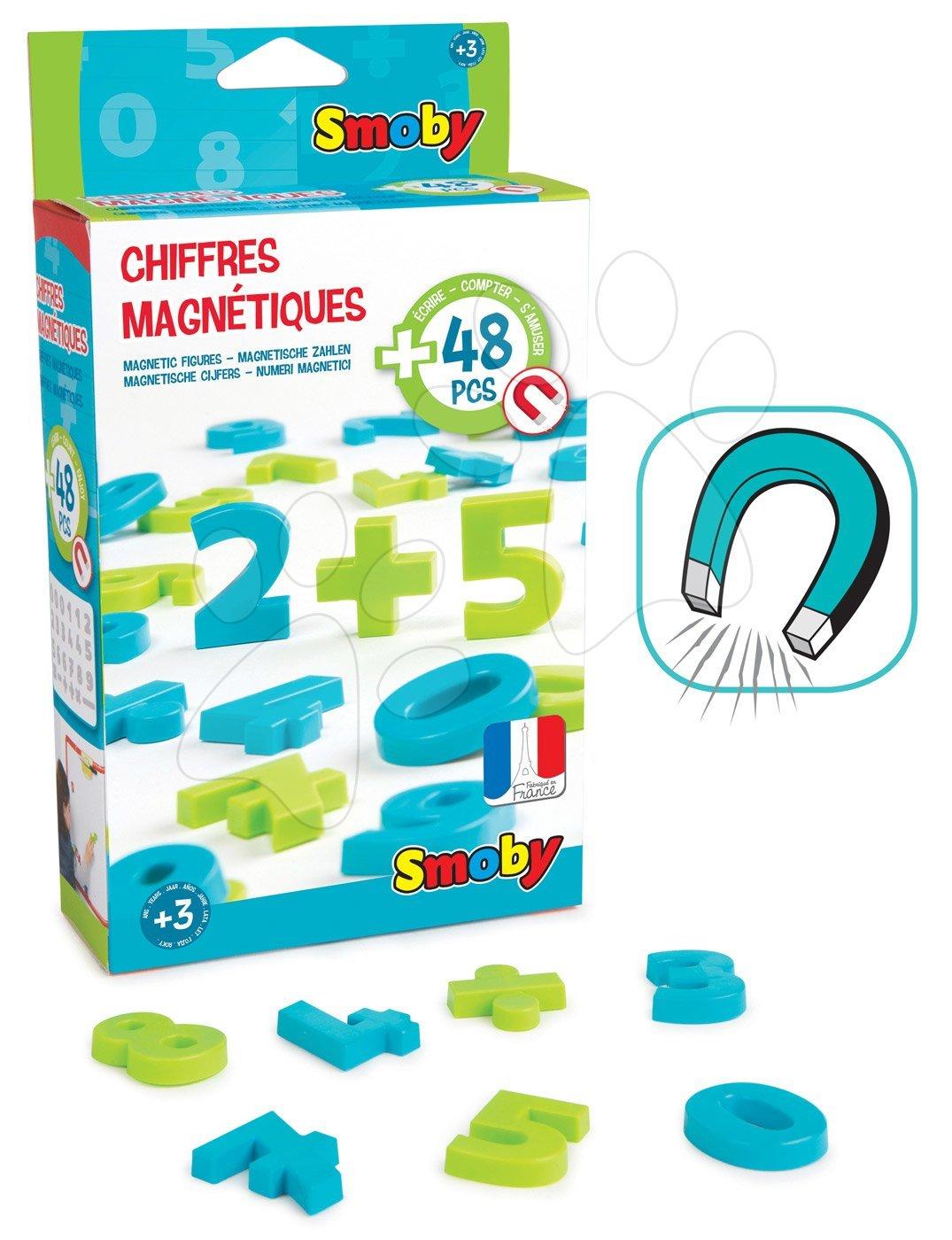 Magnetky Smoby čísla a znaky 48 kusů