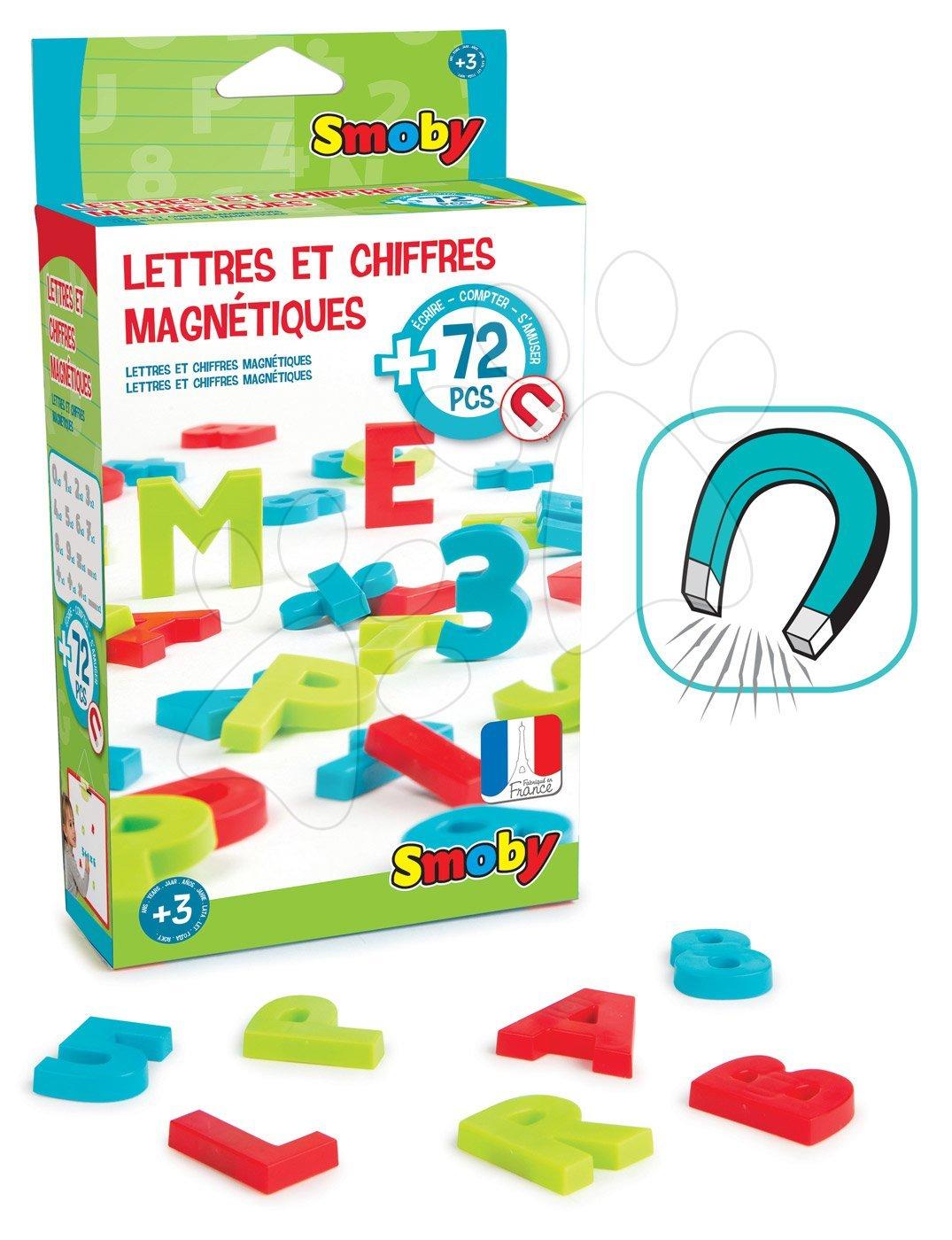 Magnetická písmenka Smoby abeceda, čísla a znaky 72 kusů