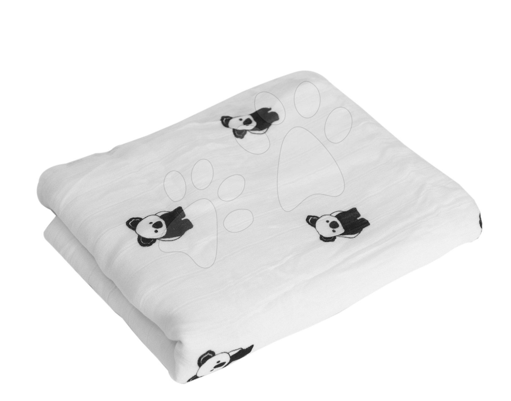 Deka pro nejmenší Bamboo toTs-smarTrike Black&White koala 3vrstvé 100% hedvábí od 0 měsíců