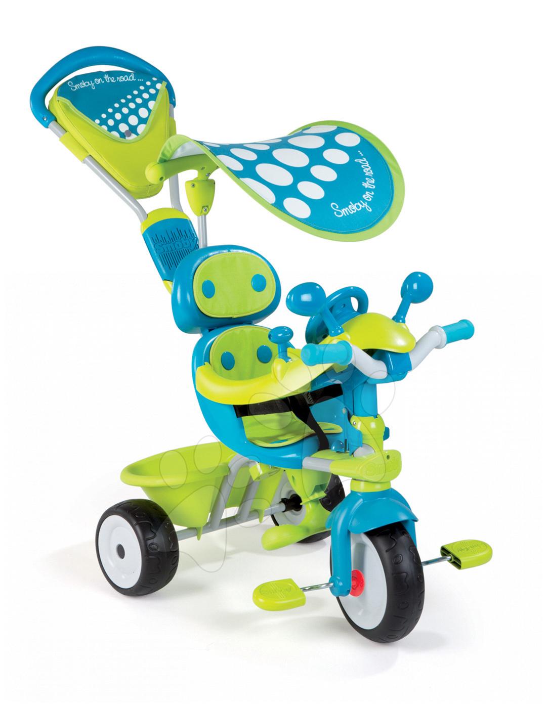 Trojkolka Baby Driver Confort Sport Smoby modro-zelená od 10 mes