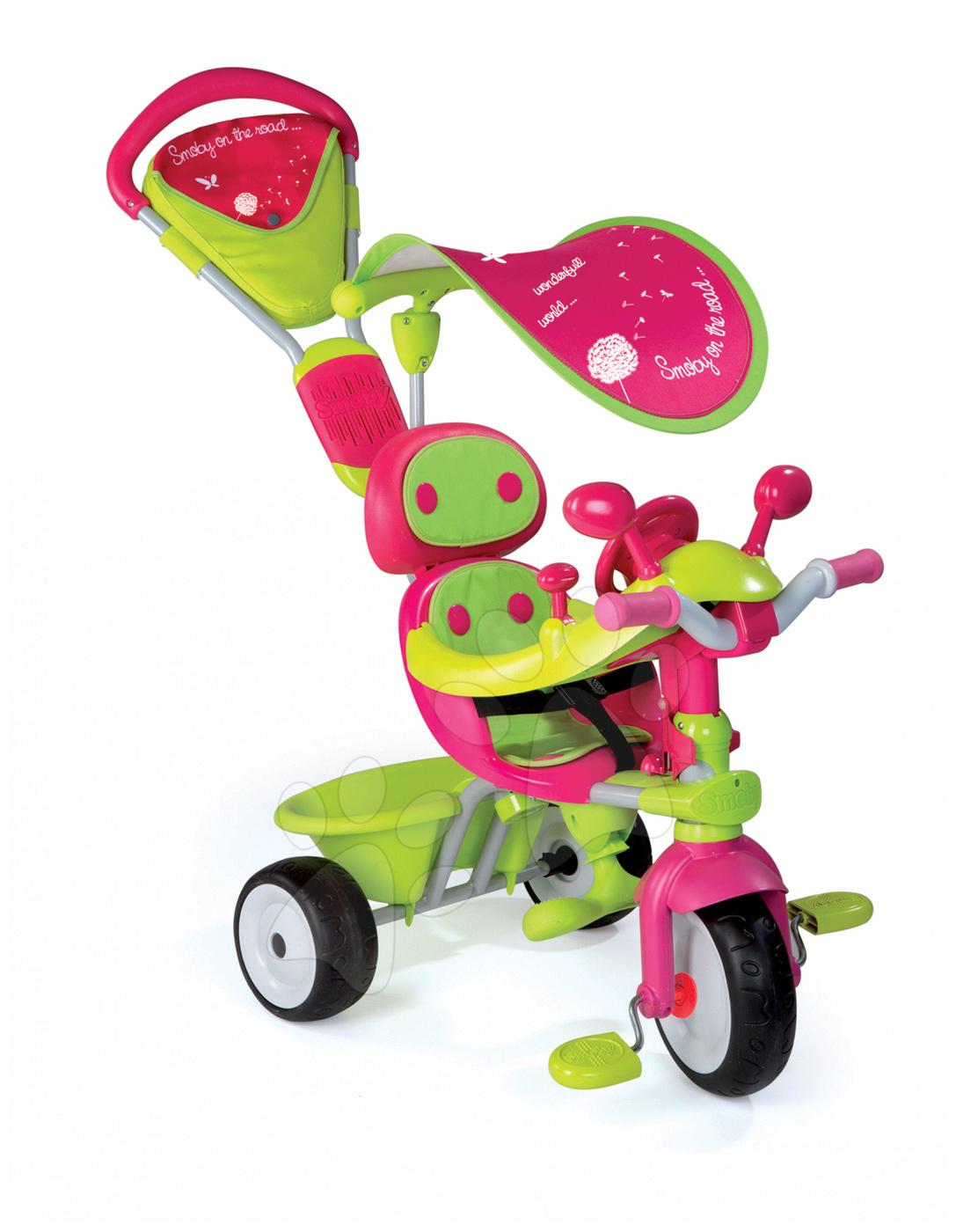 Tříkolka Baby Driver Confort Fille Smoby růžovo-zelená od 10 měsíců