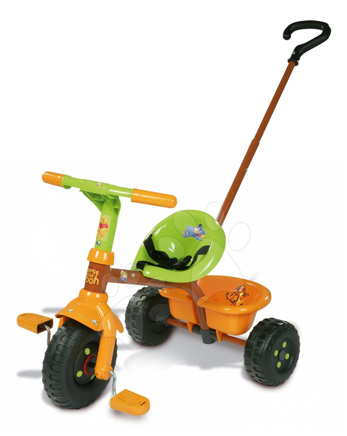 Triciklik 15 hónapos kortól - Tricikli Micimackó WD Smoby narancssárga-zöld 15 hó-tól