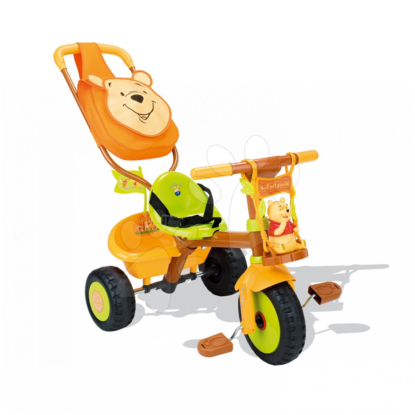 Tříkolka Medvídek Pú Be Fun Confort Smoby oranžovo-zelená od 15 měsíců