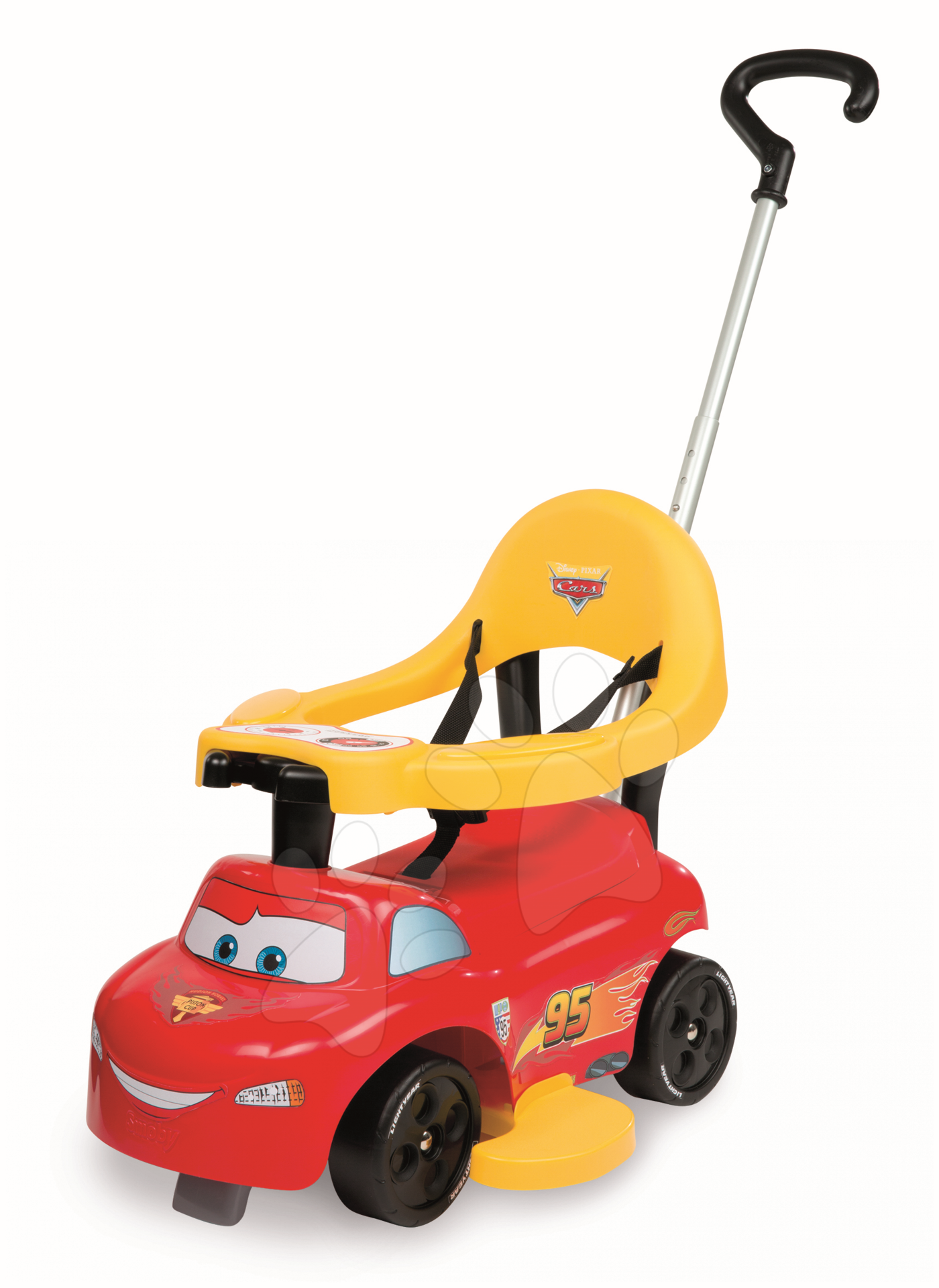 Staré položky - Odrážadlo a chodítko Auto 2v1 Autá Smoby červené od 6 mes