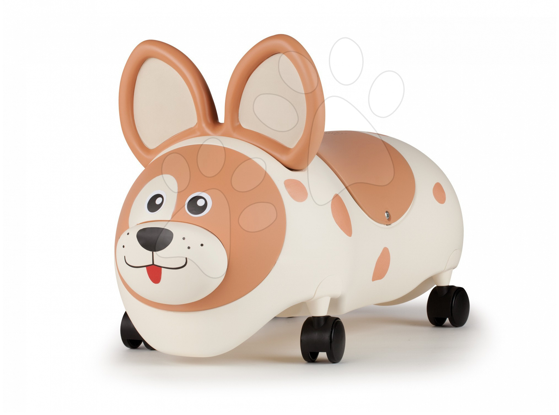 Staré položky - Happy Zoo Chien Ride-on odrážadlo pes Smoby 360 stupňové kolesá