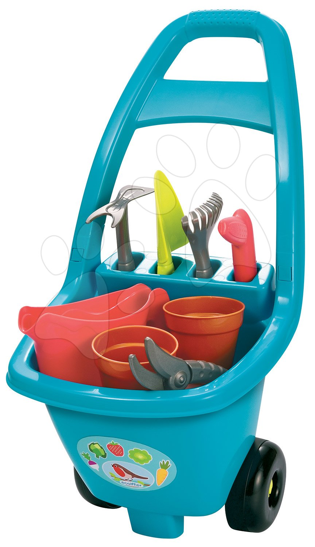 Voziček z vrtnarskim orodjem Garden&Seasons Ecoiffier in 8 pripomočkov od 18 mes