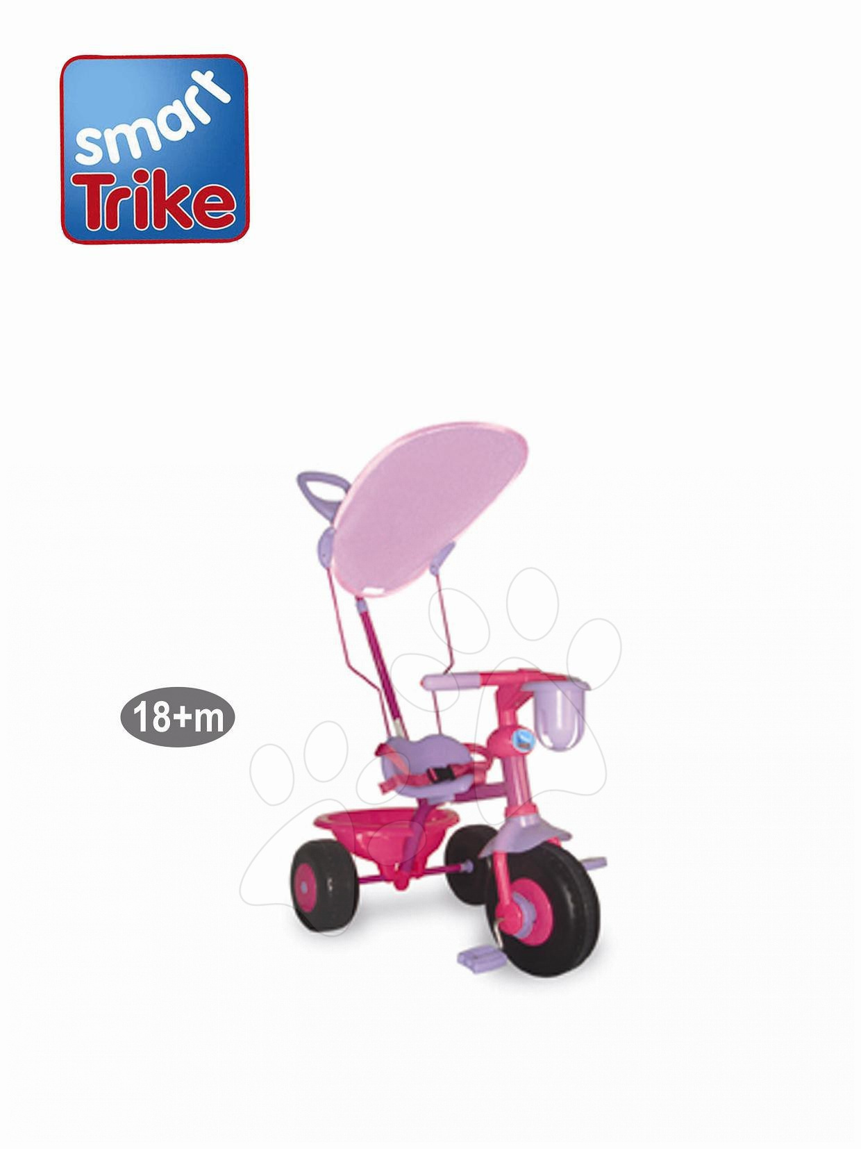 Tricikli smarTrike fogantyúval rózsaszín