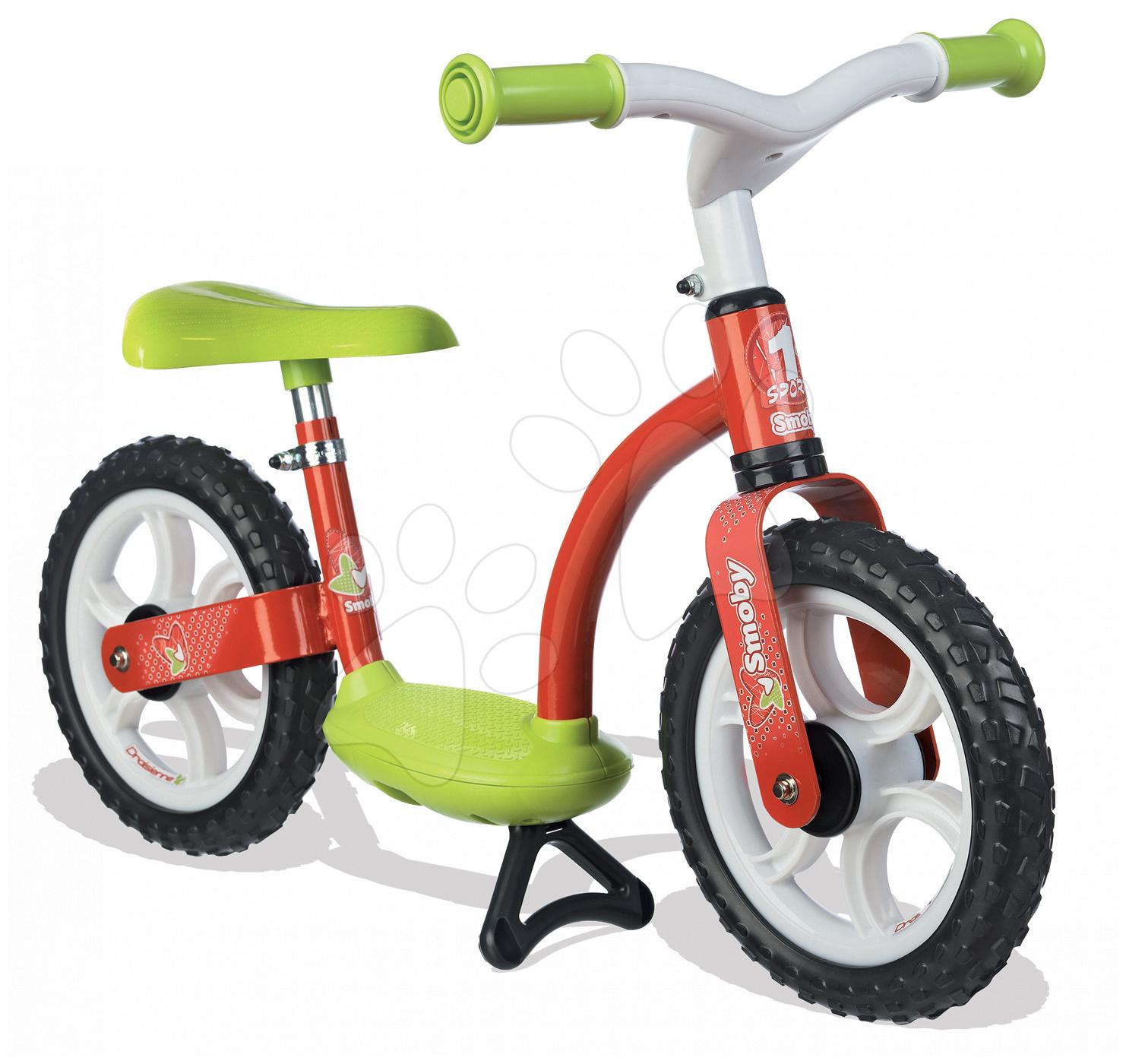 Balanční odrážedlo Learning Bike Smoby s nastavitelnou výškou sedáku červeno-žluté od 24 měsíců