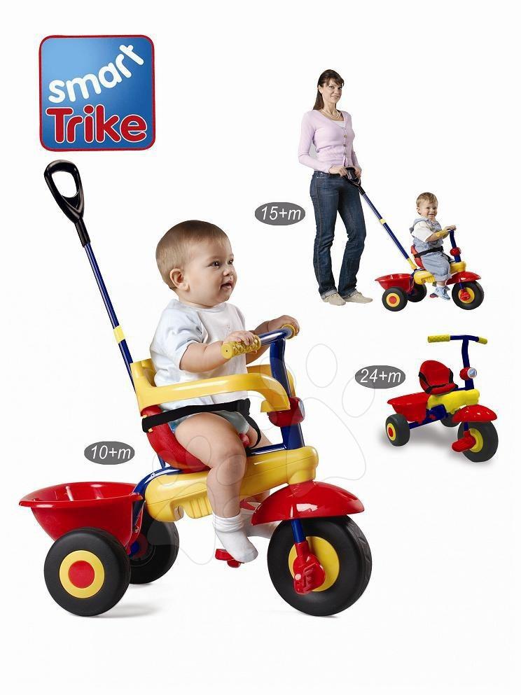 Tricicletă Uno smarTrike roşu-galben de la 10 luni