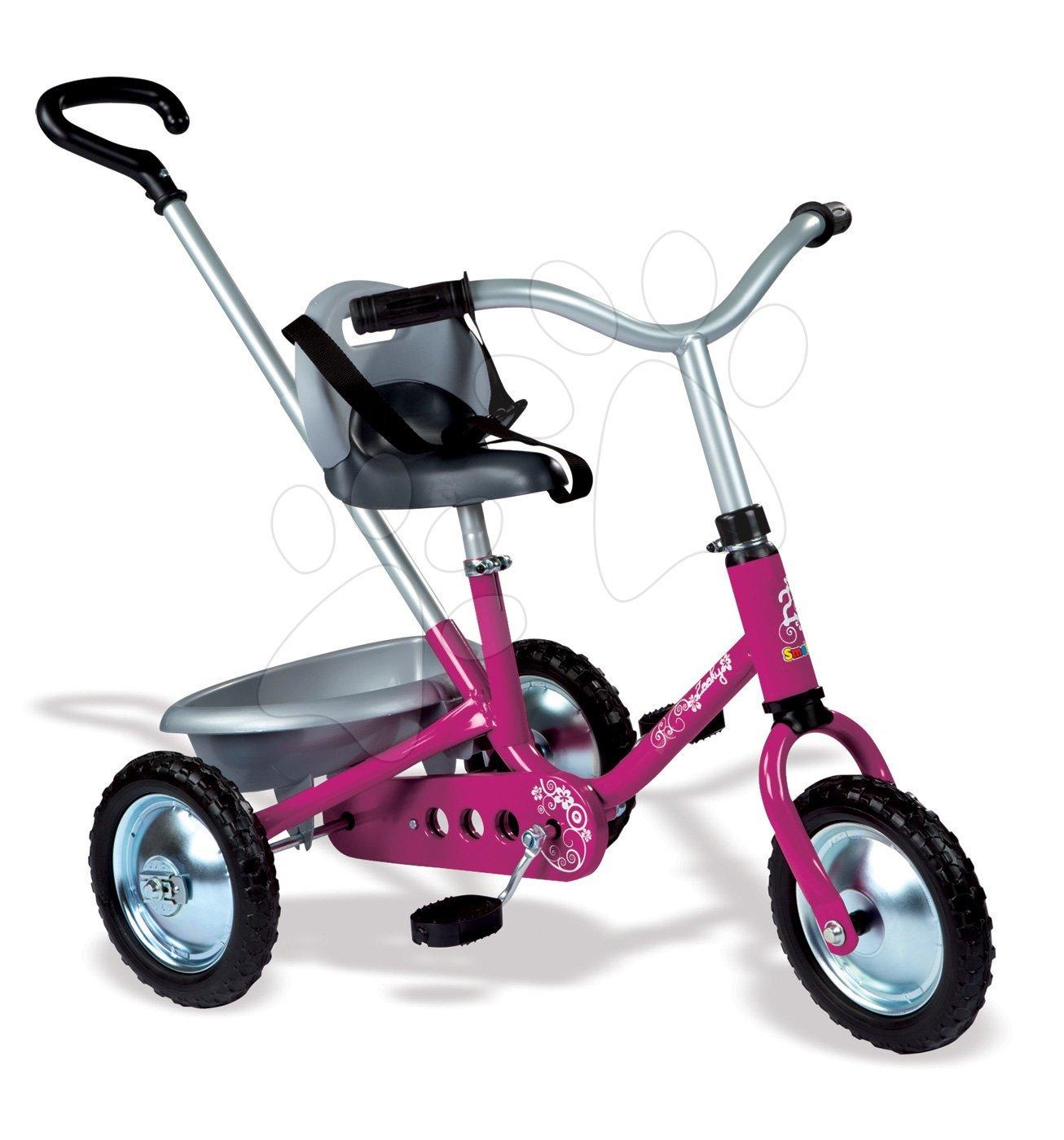 Tricicleta cu lanț - Tricicletă cu lanţ Zooky Classic Girl Smoby roz de la 16 luni