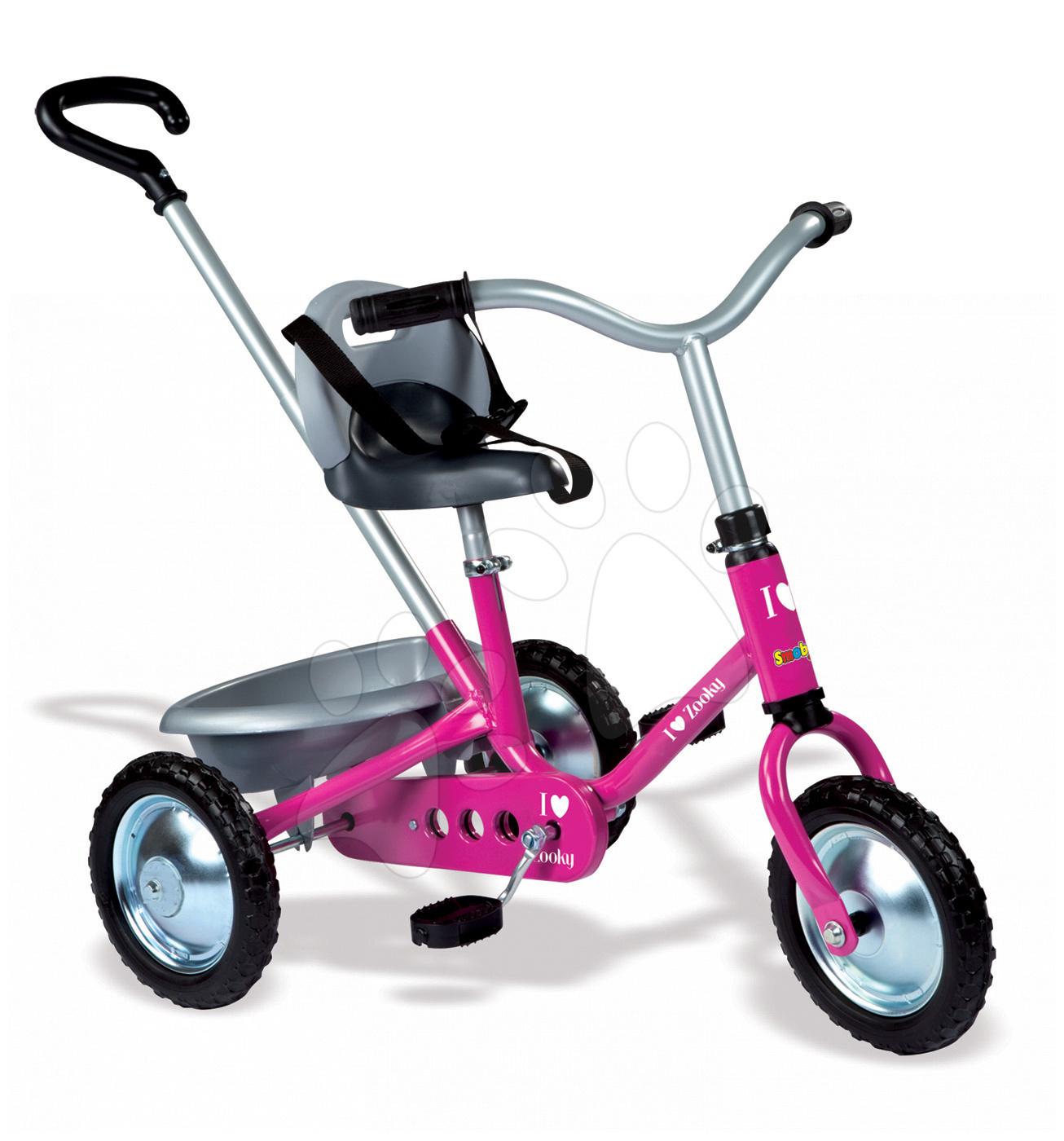 Řetězová tříkolka Zooky Classic Girl Smoby světle růžová od 16 měsíců