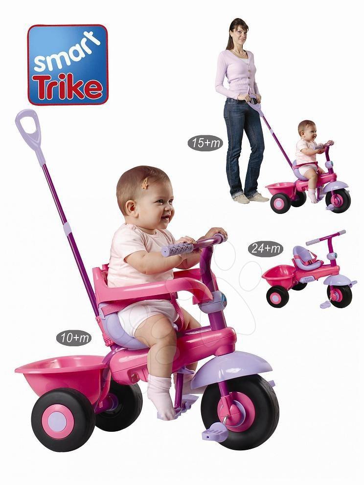 Triciclete de la 10 luni - Tricicletă Uno smarTrike roz-mov de la 10 luni