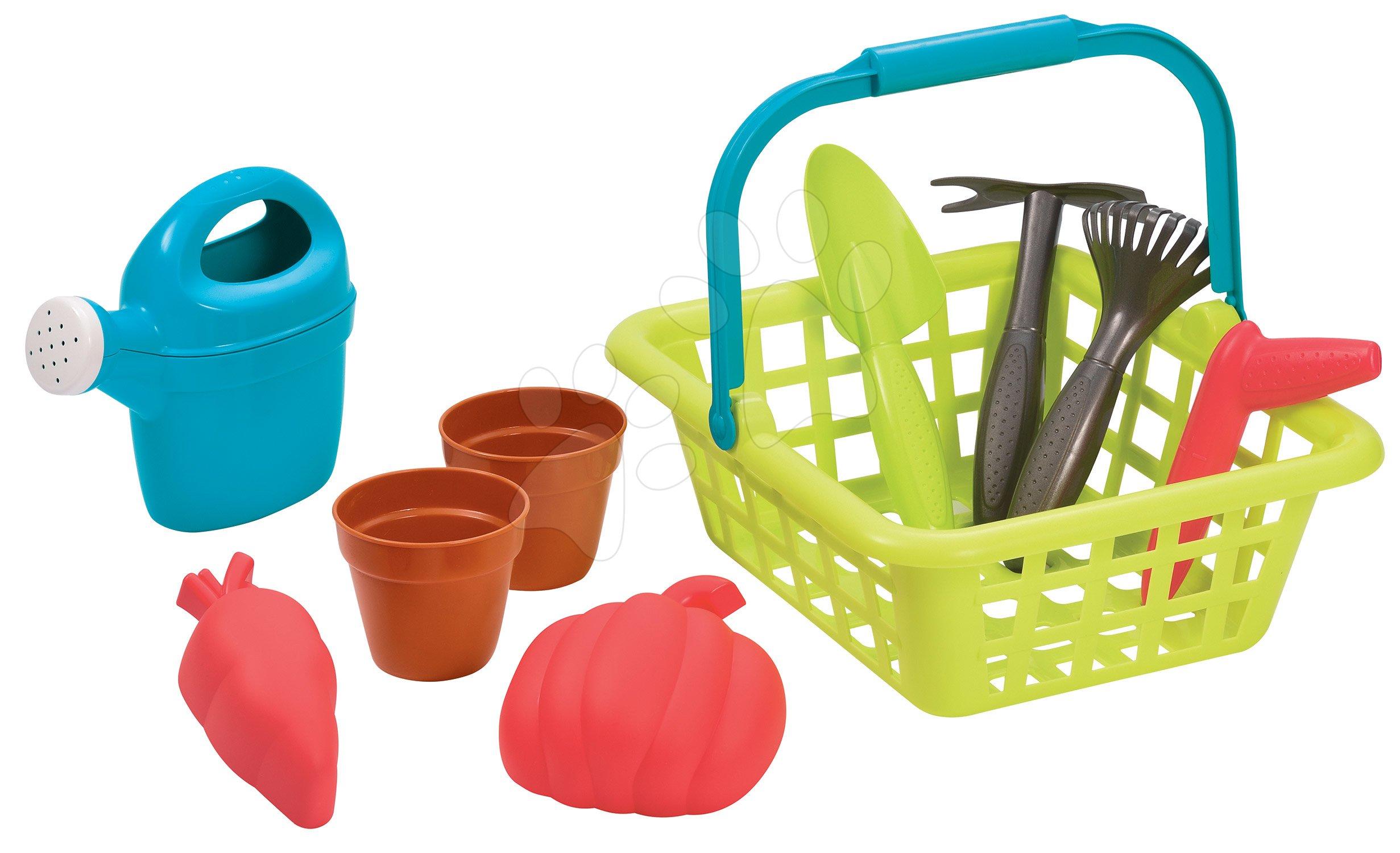 Košík s krhličkou Garden&Seasons Écoiffier a s potrebami na záhradu od 18 mes
