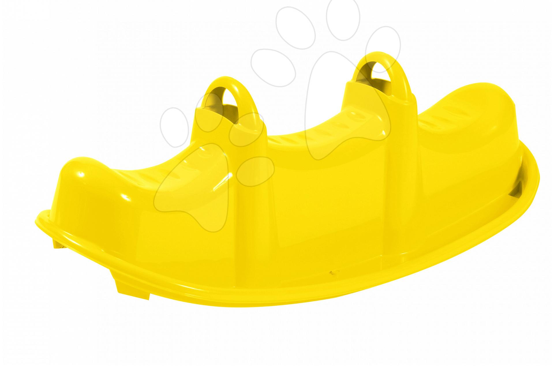 Houpačka krokodýl Starplast oboustranná žlutá