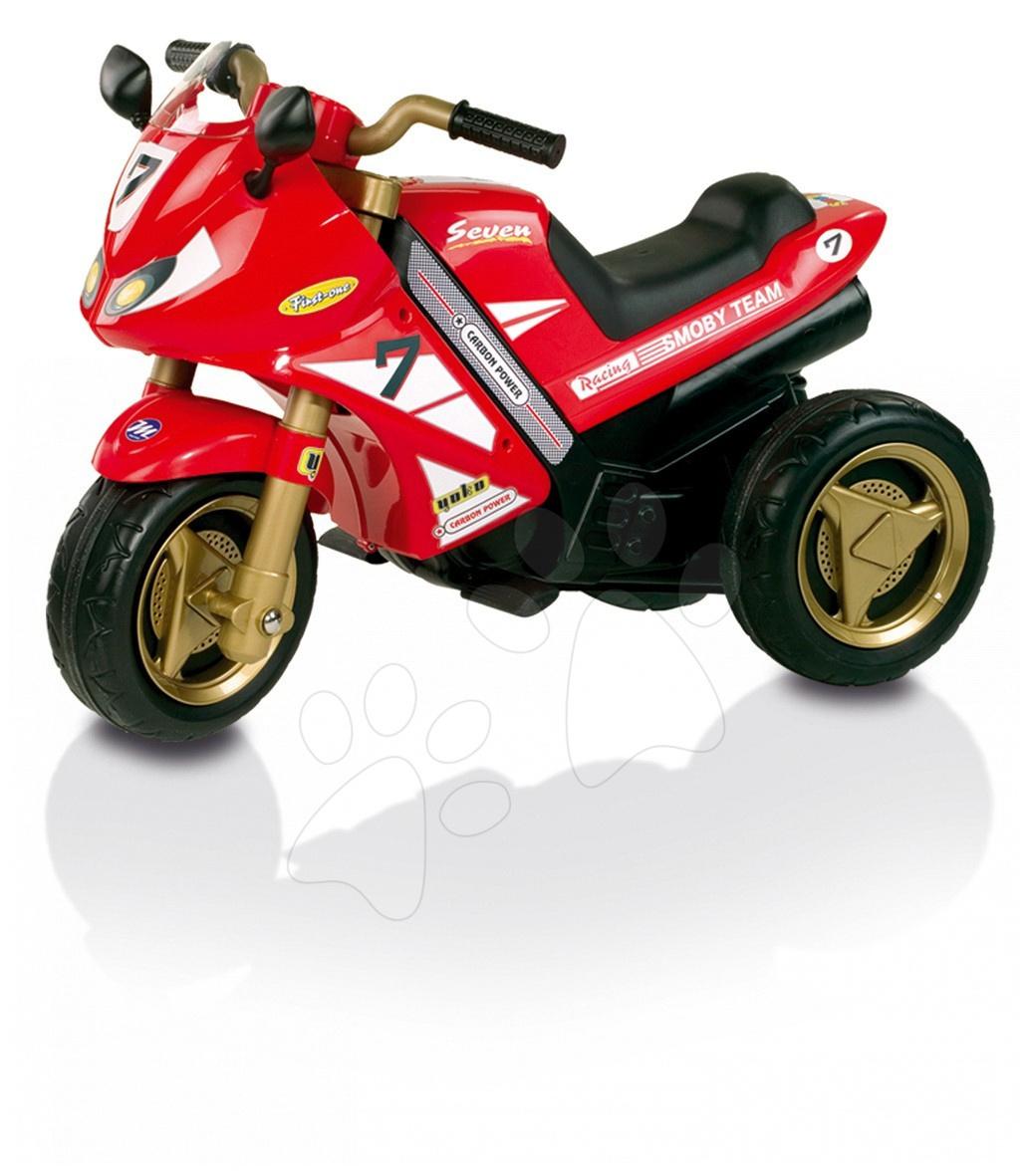 Produse vechi - Motor electric roșu Moto Grand Prix Smoby funcționează cu baterie 82,4*44,6*59,9 cm