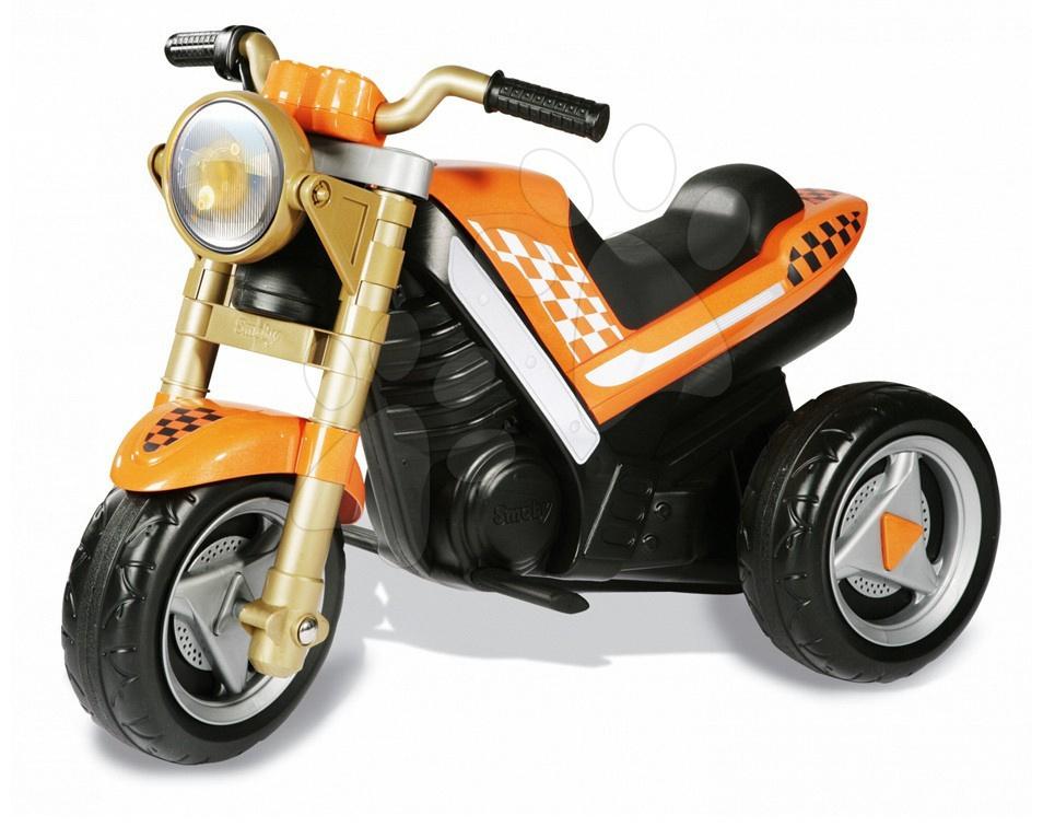 Staré položky - Motorka Roadster na baterii  Smoby oranžová od 24 měsíců