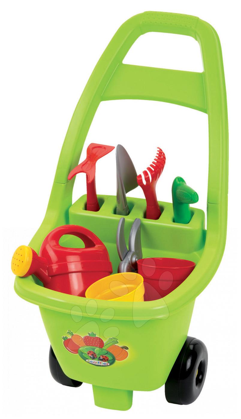 Hry na záhradníka - Vozík pre záhradníka Piknik Écoiffier 8 doplnkov od 18 mes