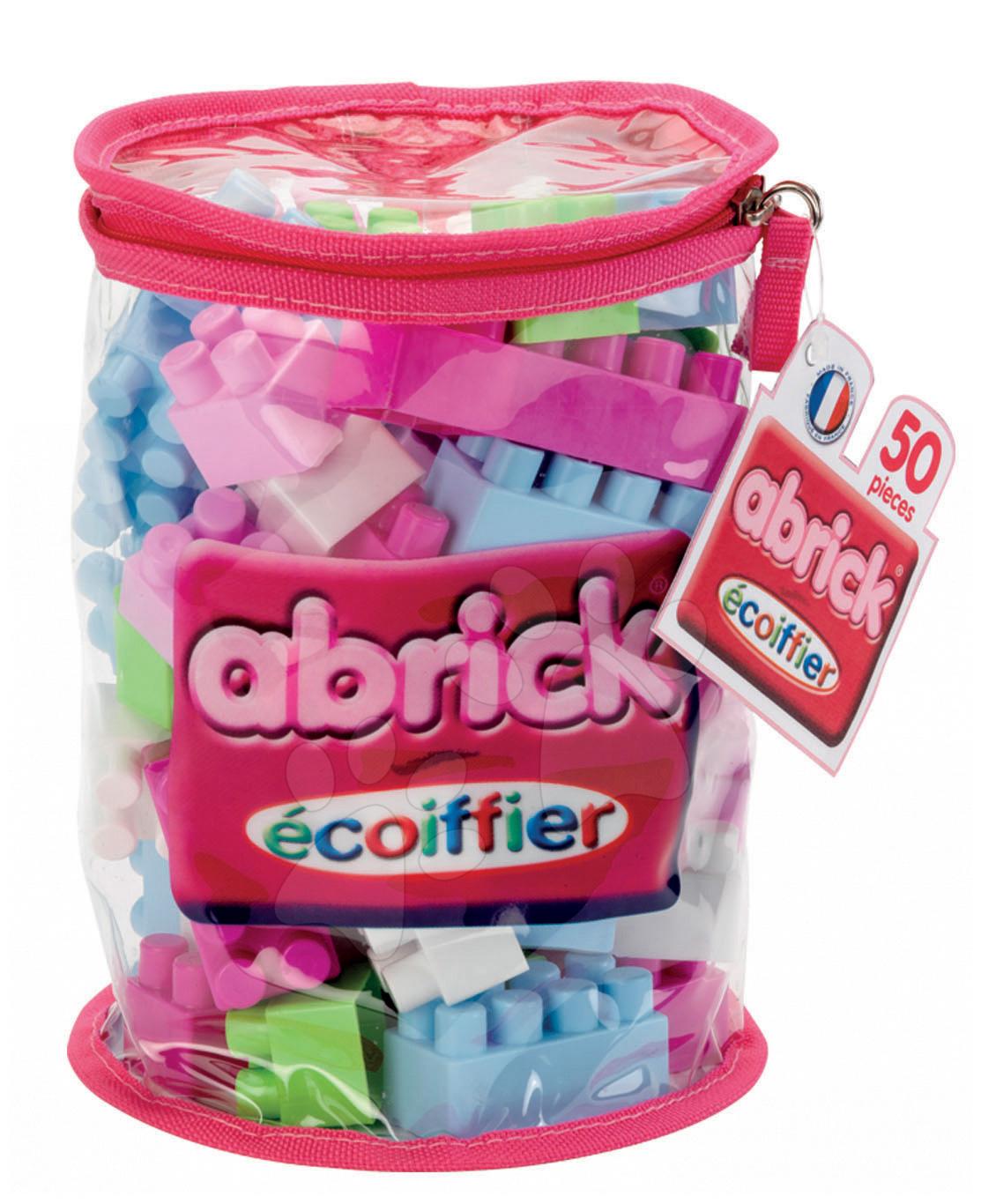 Stavebnice Abrick Écoiffier v tašce 50 dílů růžová od 18 měsíců