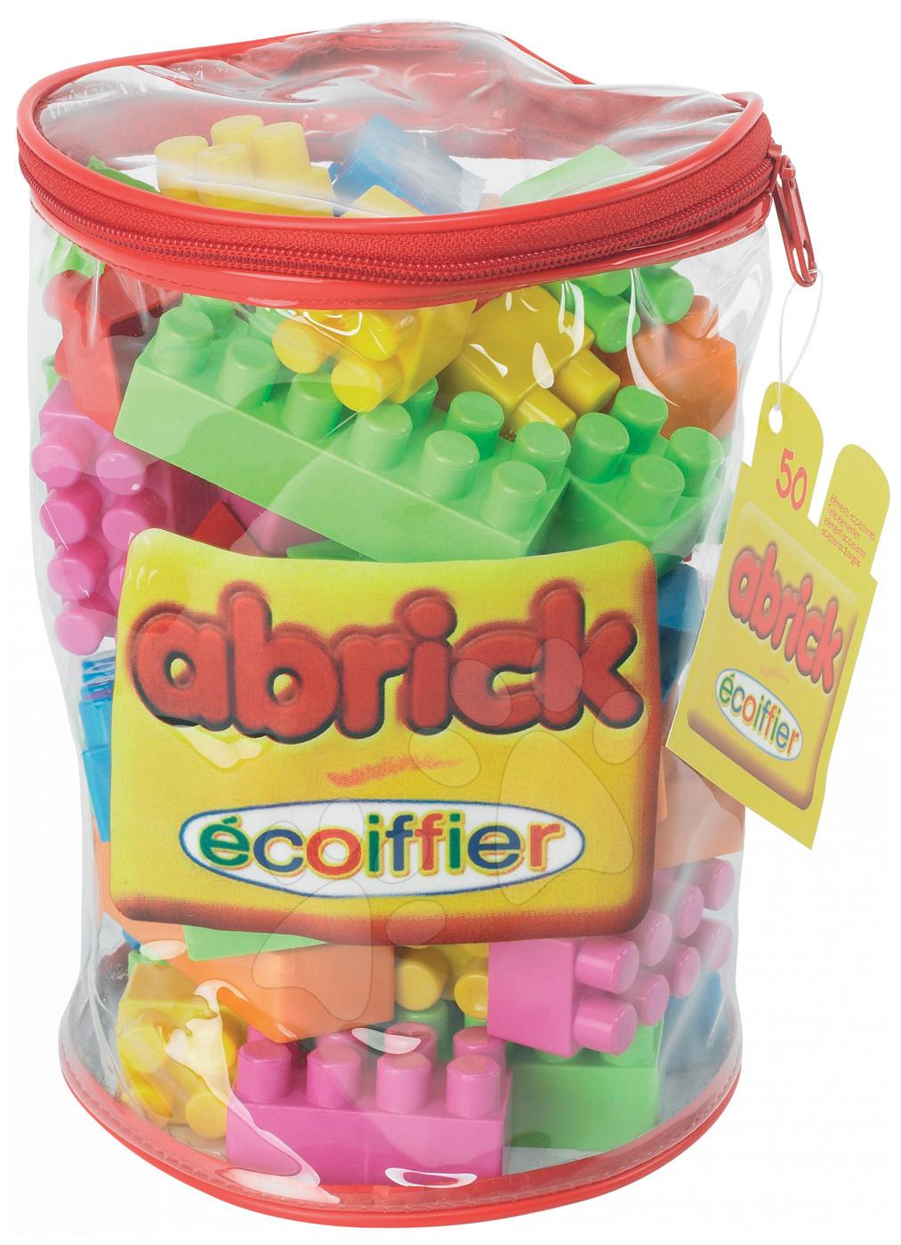 Otroške kocke Abrick - Otroške kocke Abrick Écoiffier v vreči 50 delov od 18 mes