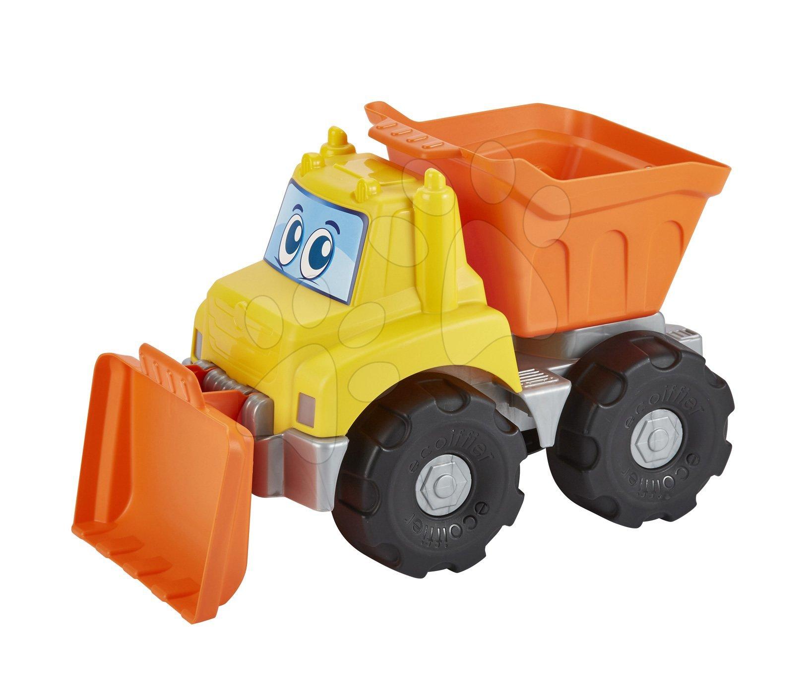 Pracovní auto s radlicí Écoiffier oranžové od 18 měsíců