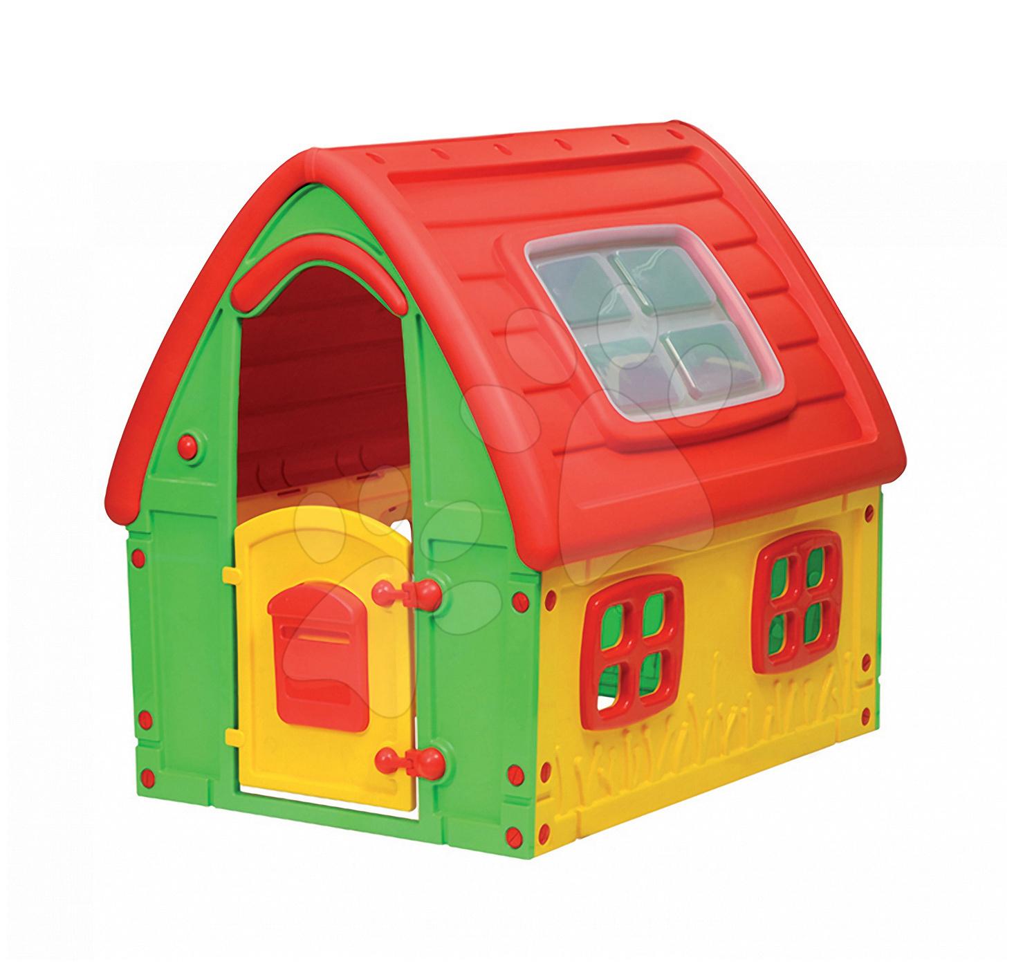 Domečky pro děti - Domeček Fairy House Starplast červeno-zelený od 24 měsíců