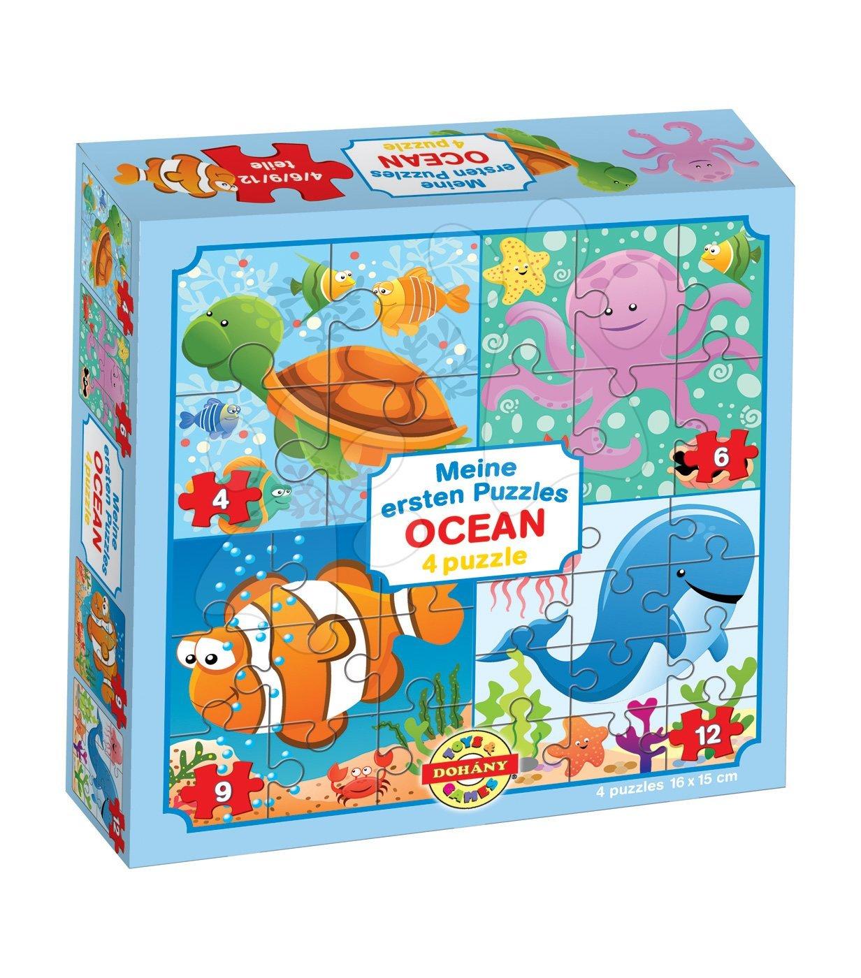 Puzzle pre najmenších - Puzzle pre najmenších Moje prvé puzzle Oceán Dohány 4-6-9-12 dielov od 24 mes