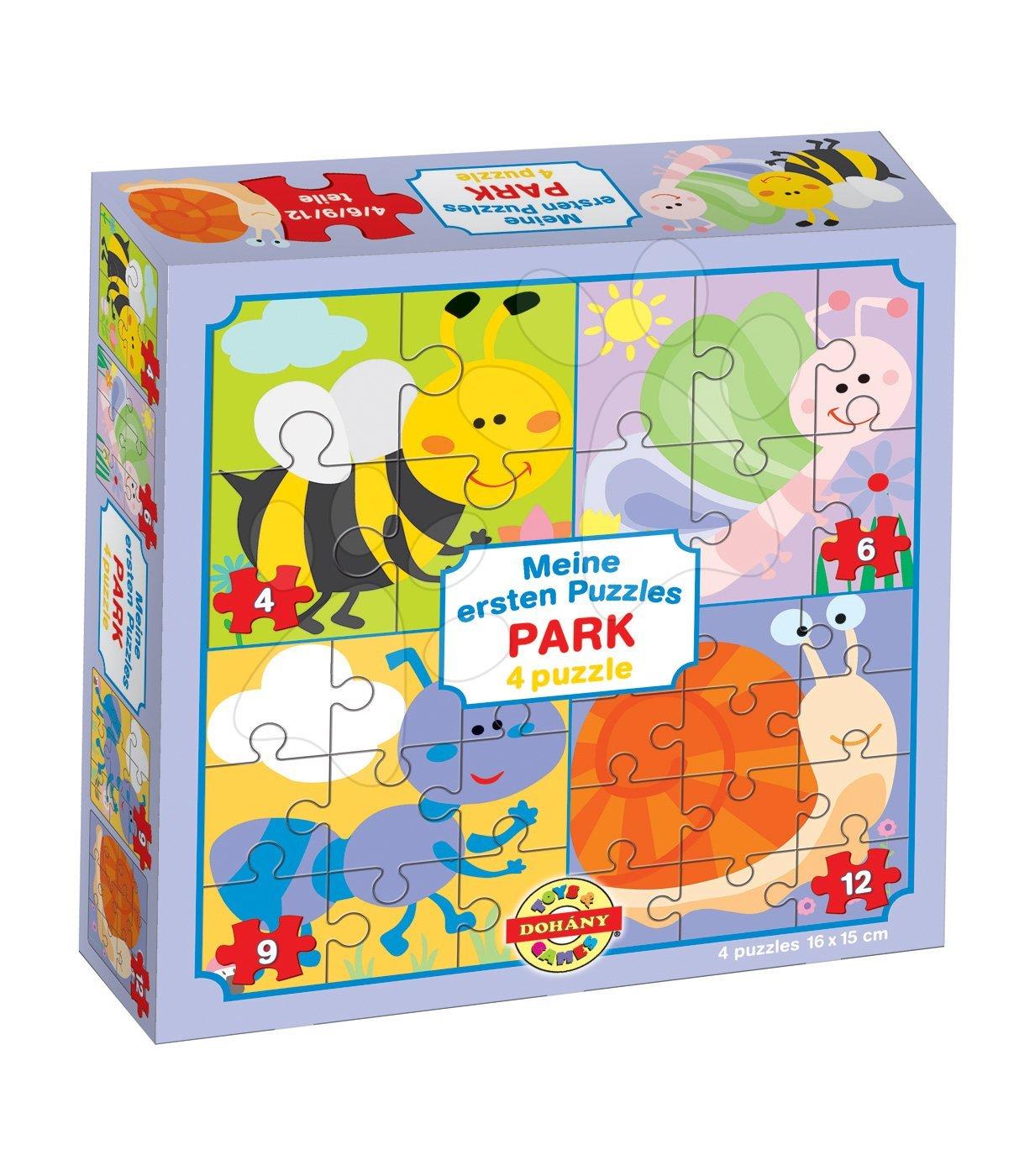 Puzzle pro nejmenší Moje první puzzle Park Dohány 4-6-9-12 dílů od 24 měsíců