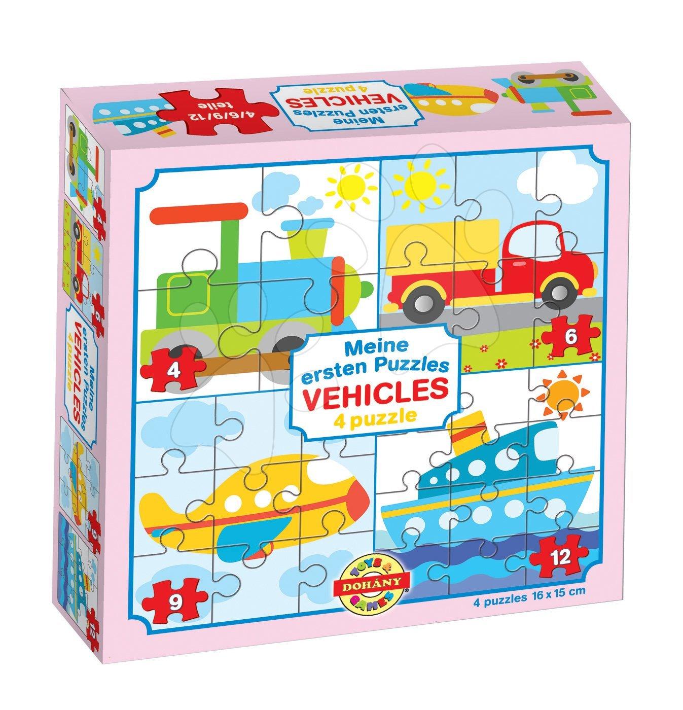 Puzzle pro nejmenší Moje první puzzle Vozidla Dohány 4-6-9-12 dílů od 24 měsíců