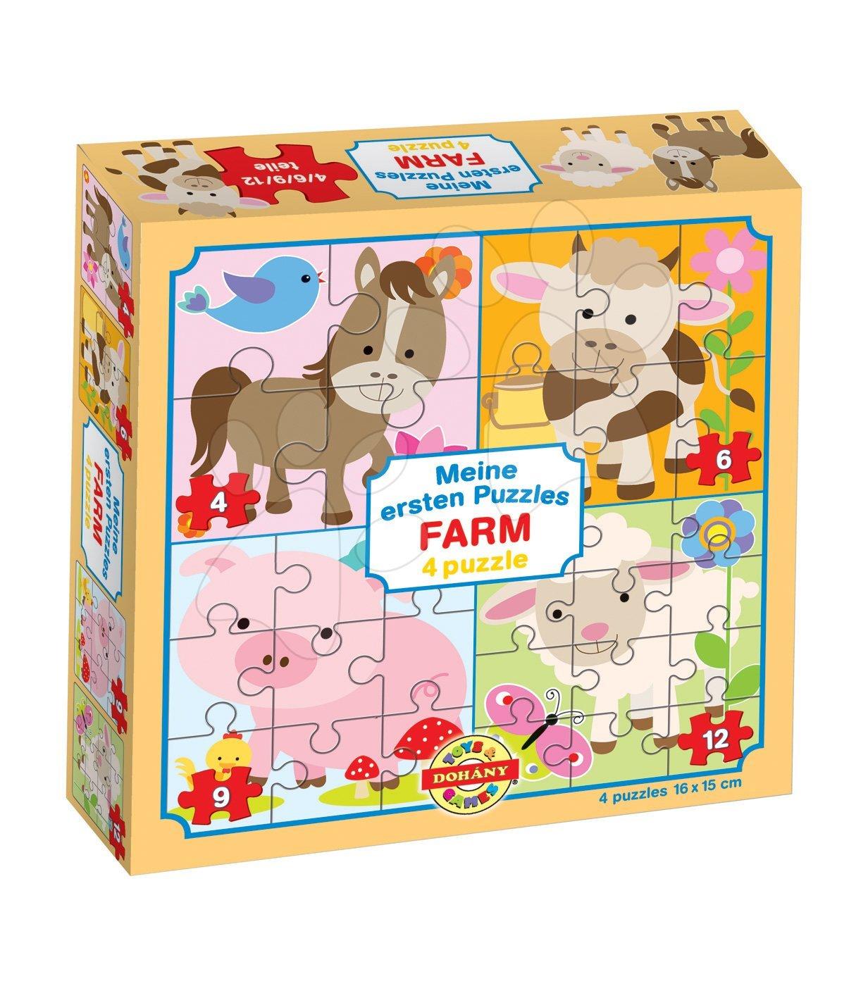Puzzle pre najmenších - Puzzle pre najmenších Moje prvé puzzle Farma Dohány 4-6-9-12 dielov od 24 mes