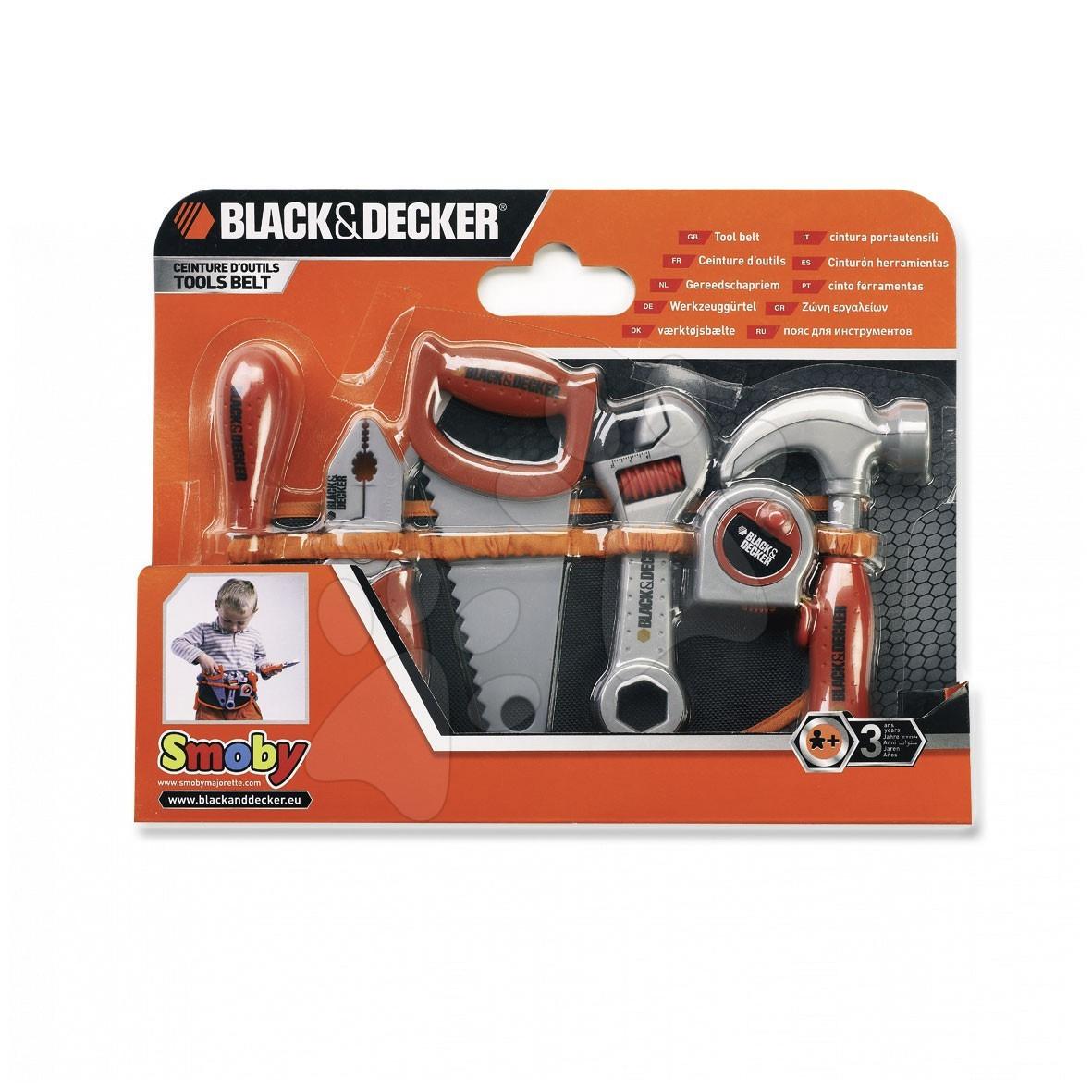 set s nářadím na opasku Black&Decker Smoby