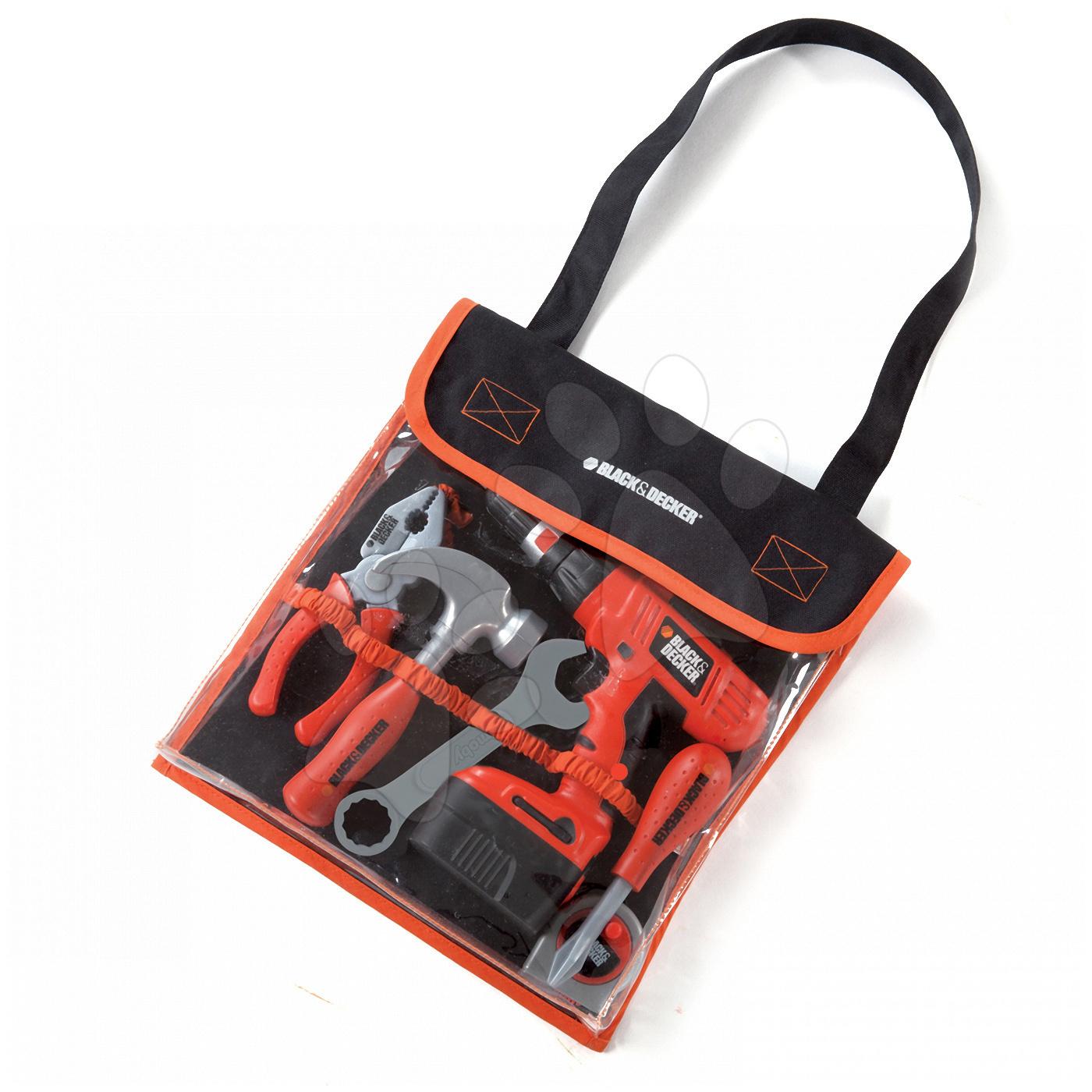 Súprava náradia Black&Decker Smoby v taške s mechanickou vŕtačkou