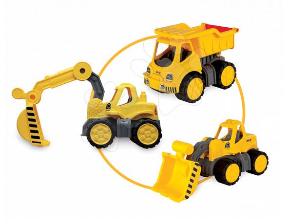 Smoby hračkárske stavbárske autíčka Maxi Bolide 3 ks 500185 žlté
