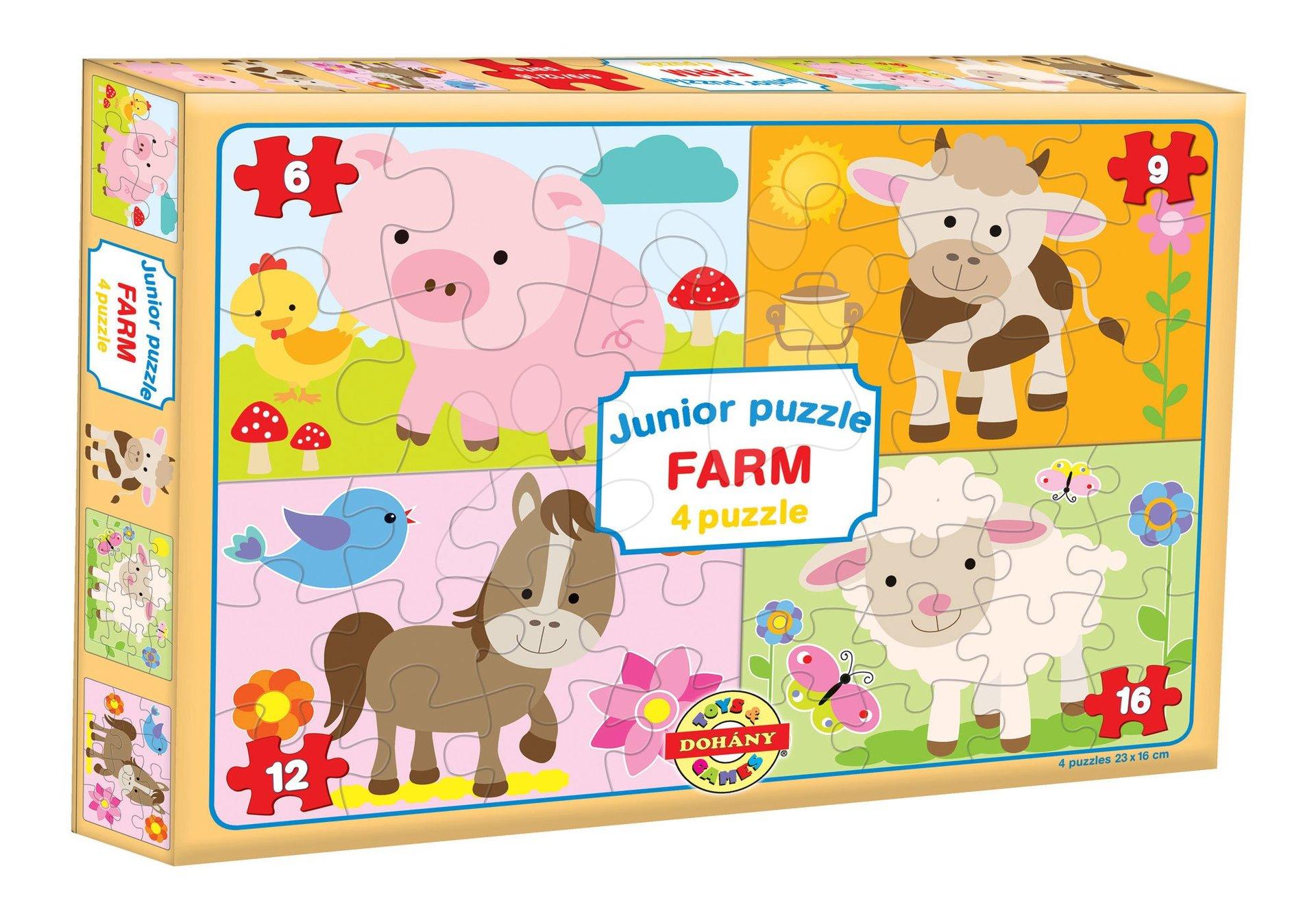 Dohány puzzle Junior Farm 4 Domáce zvieratká 502-9