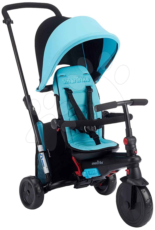 Tricicletă pliabilă smarTfold 400 S Blue 6în1 smarTrike Touch Steering albastru cu roți compacte EVA de la 9 luni