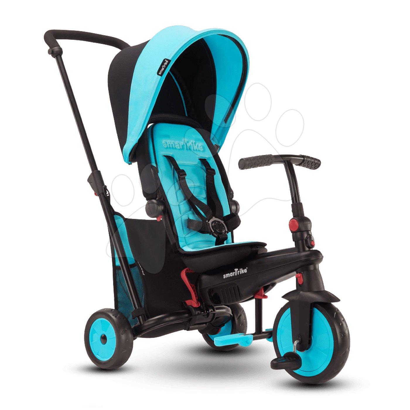 Triciclete de la 10 luni - Tricicletă pliabilă smarTfold 6în1 smarTrike 300 Plus Blue TouchSteering compactă cu roți EVA de la 10 luni